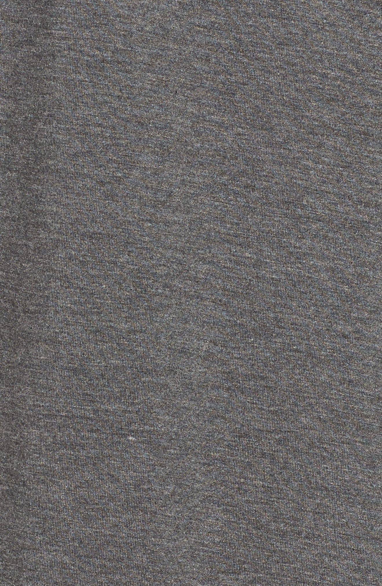 Lounge Top,                             Alternate thumbnail 6, color,                             Charcoal Heather