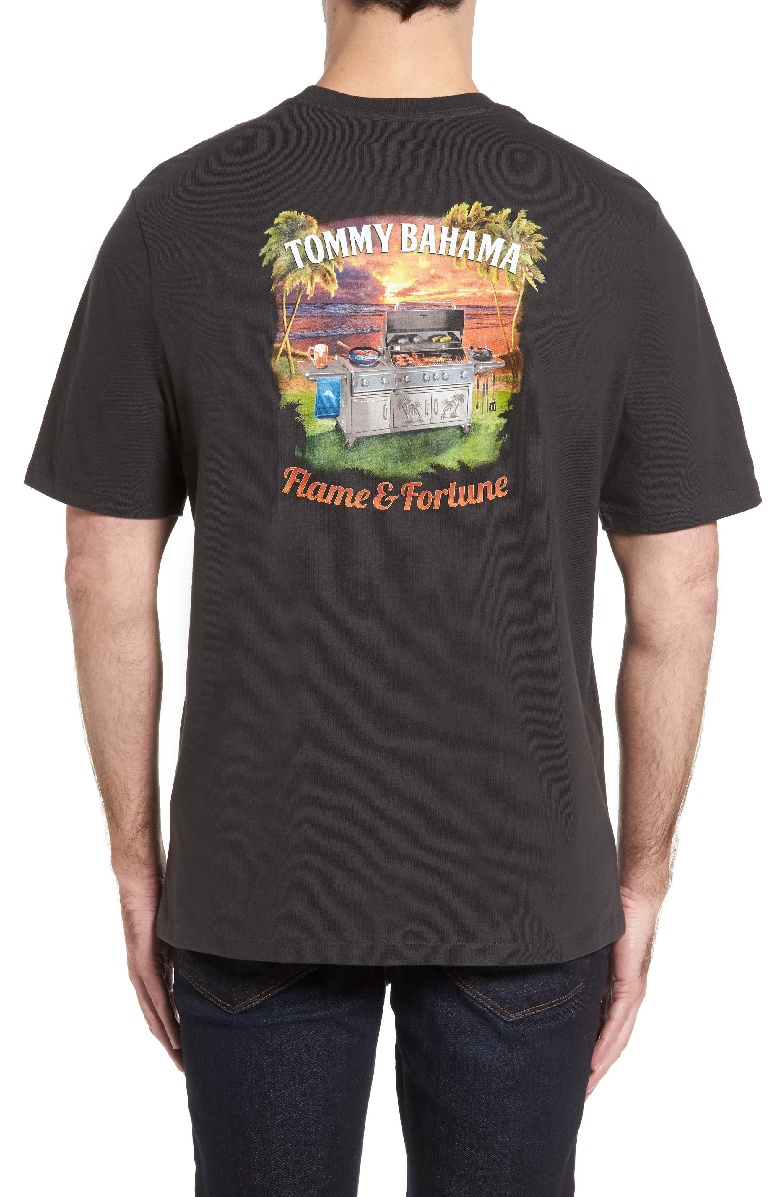 Alternate Image 2  - Tommy Bahama Flame & Fortune T-Shirt