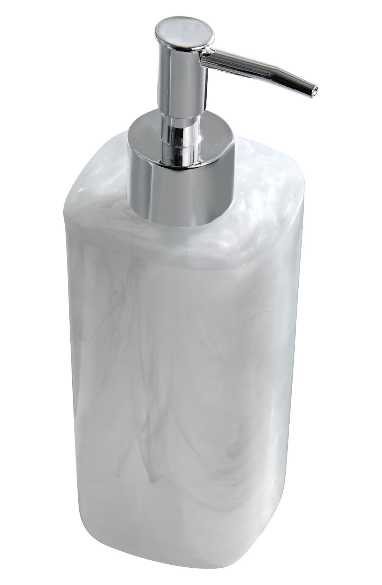Murano Soap Pump,                             Main thumbnail 1, color,                             White