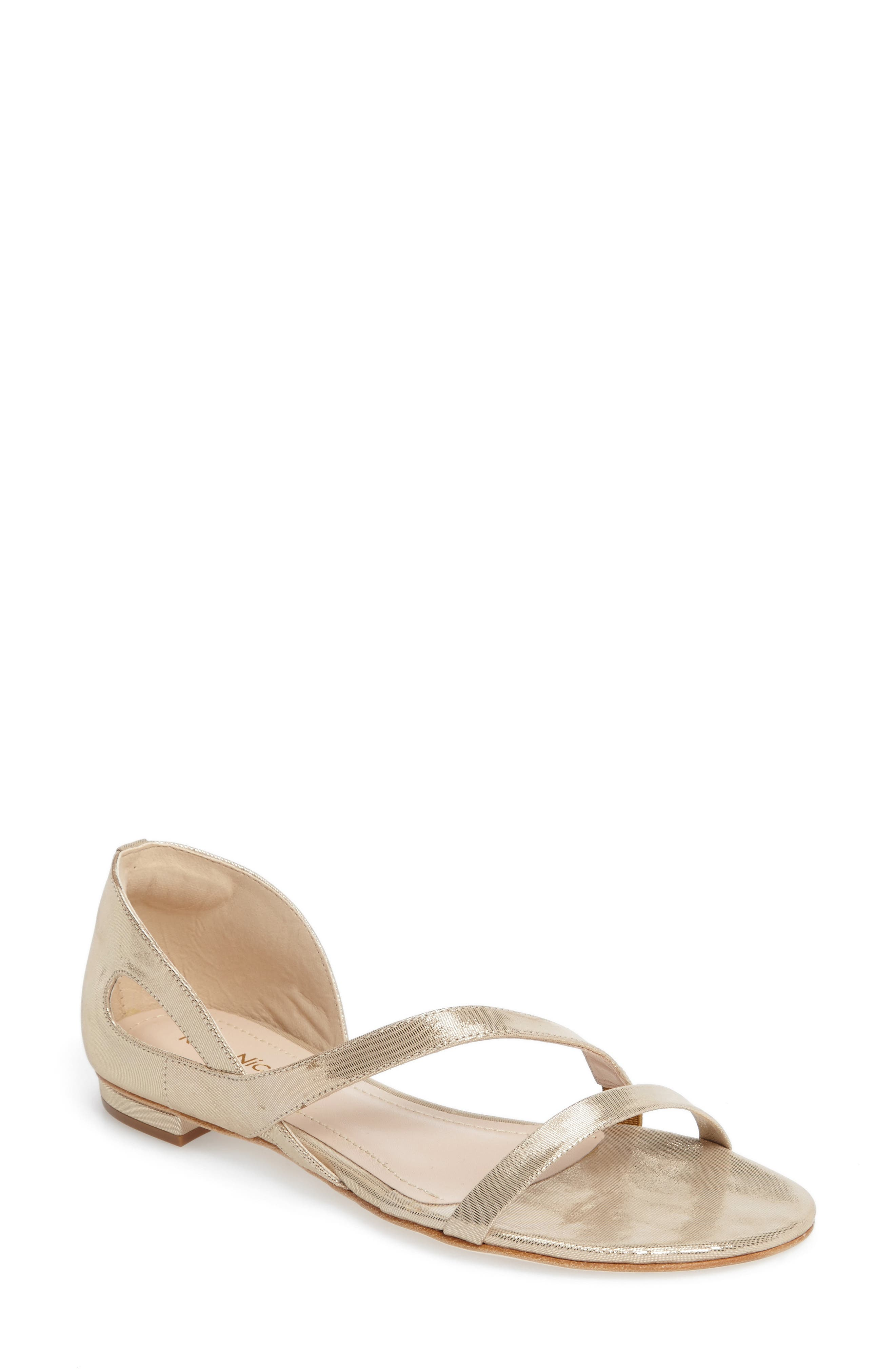 Jeanne Sandal,                             Main thumbnail 1, color,                             Champagne Leather