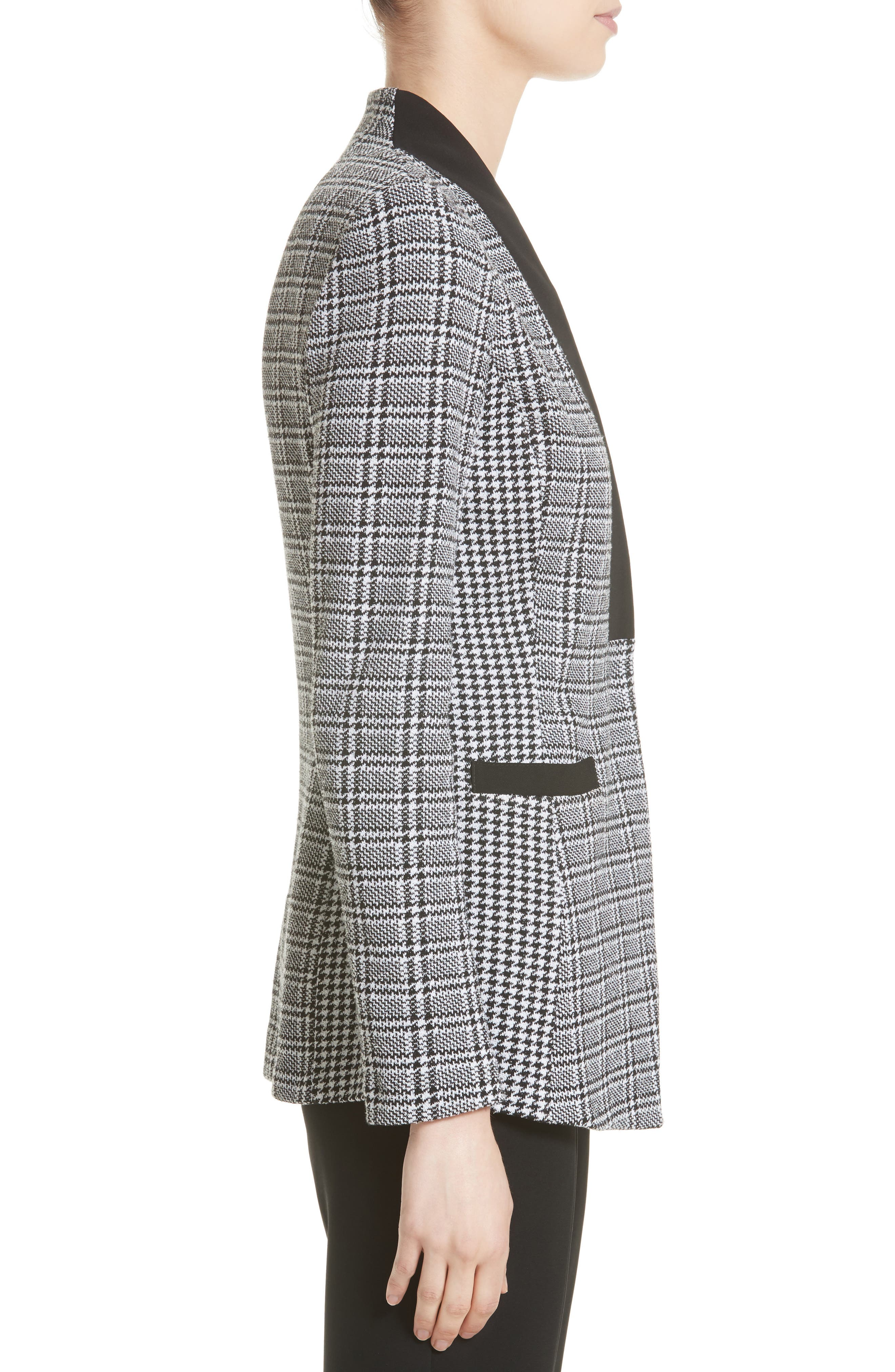 Alternate Image 3  - St. John Collection Mini Houndstooth Plaid Jacket