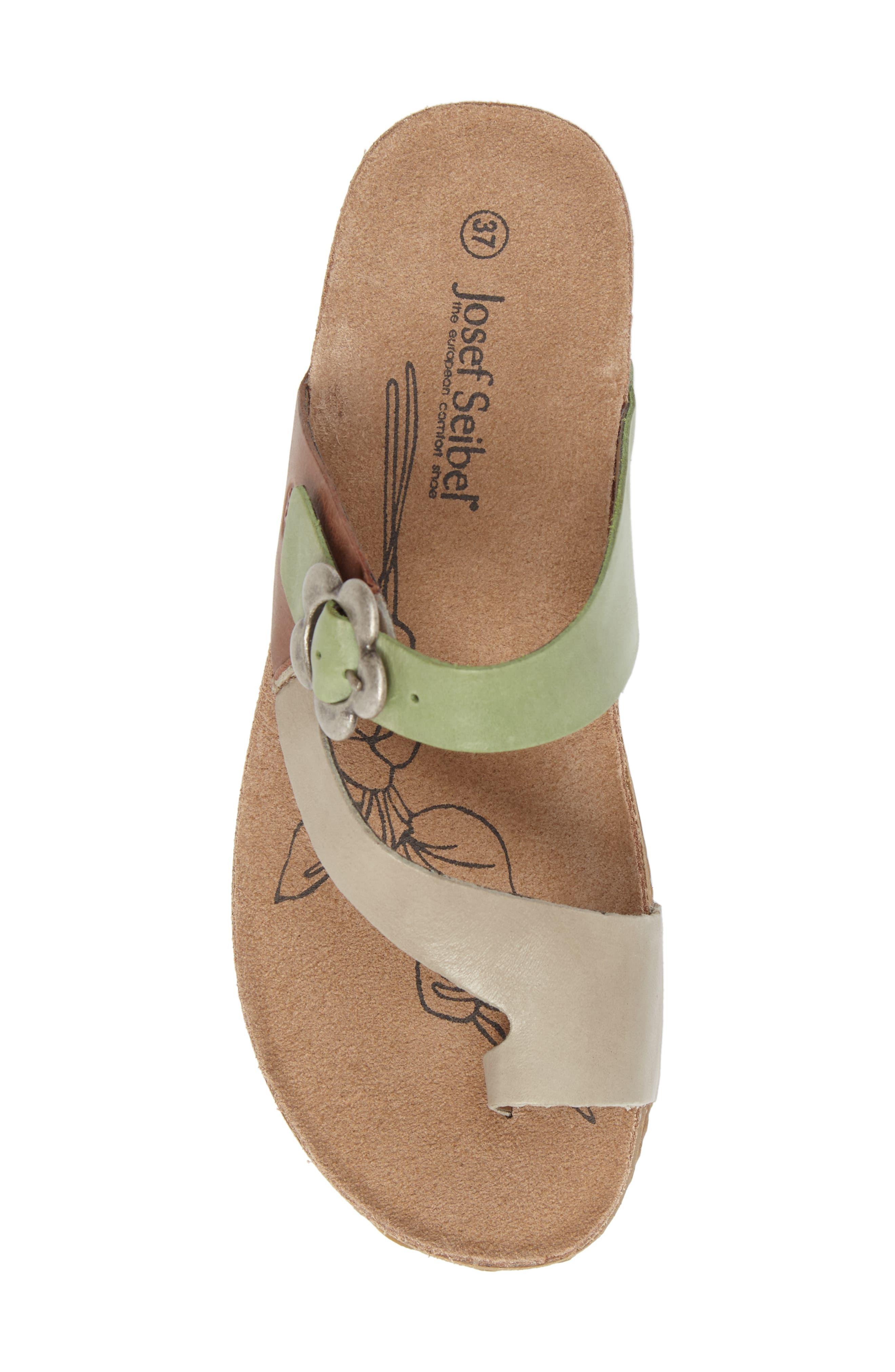 Tonga 23 Sandal,                             Alternate thumbnail 5, color,                             Grey Multi Leather