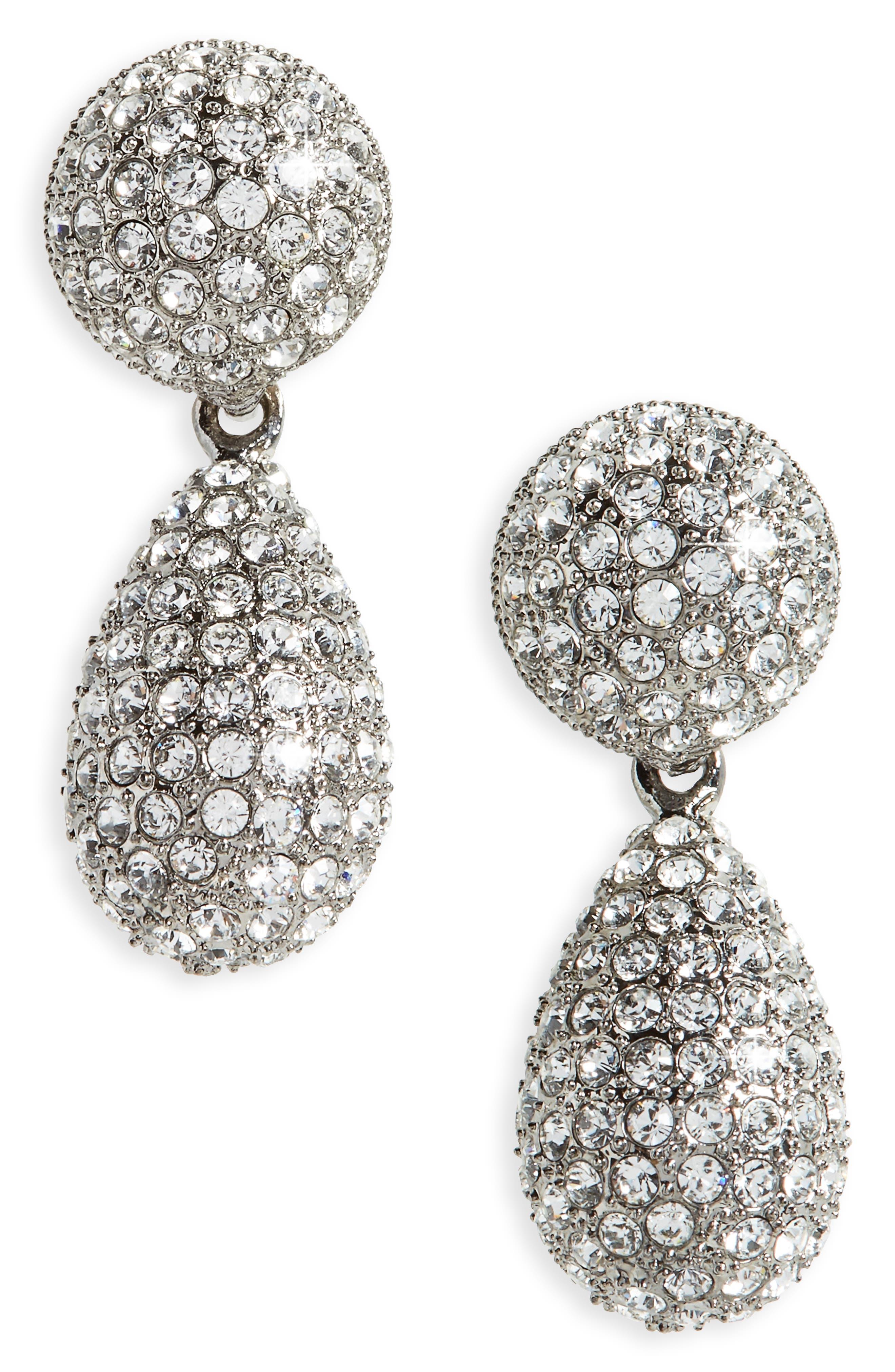 Alternate Image 1 Selected - Nina Teardrop Crystal Earrings