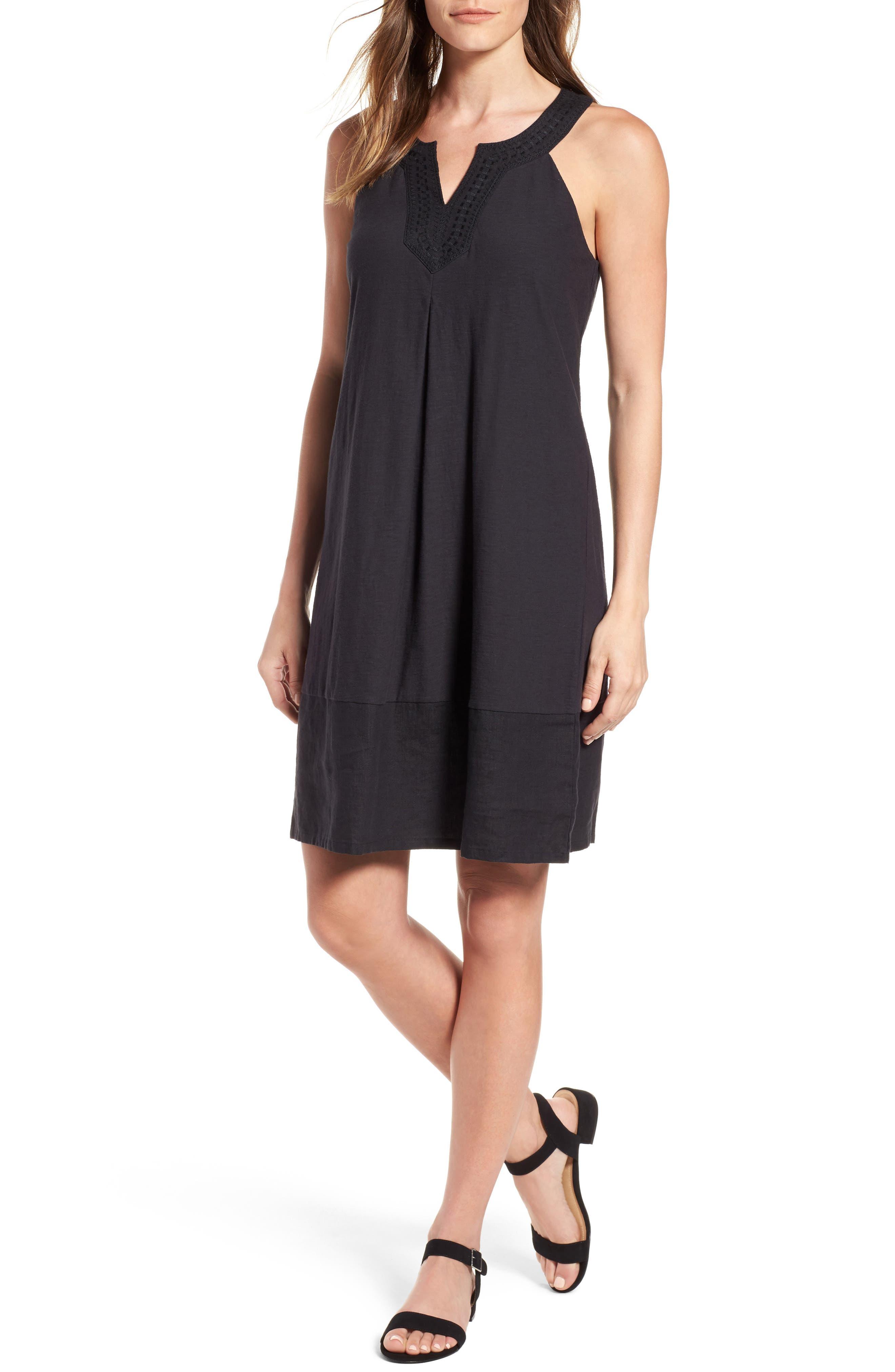Arden Shift Dress,                         Main,                         color, Black