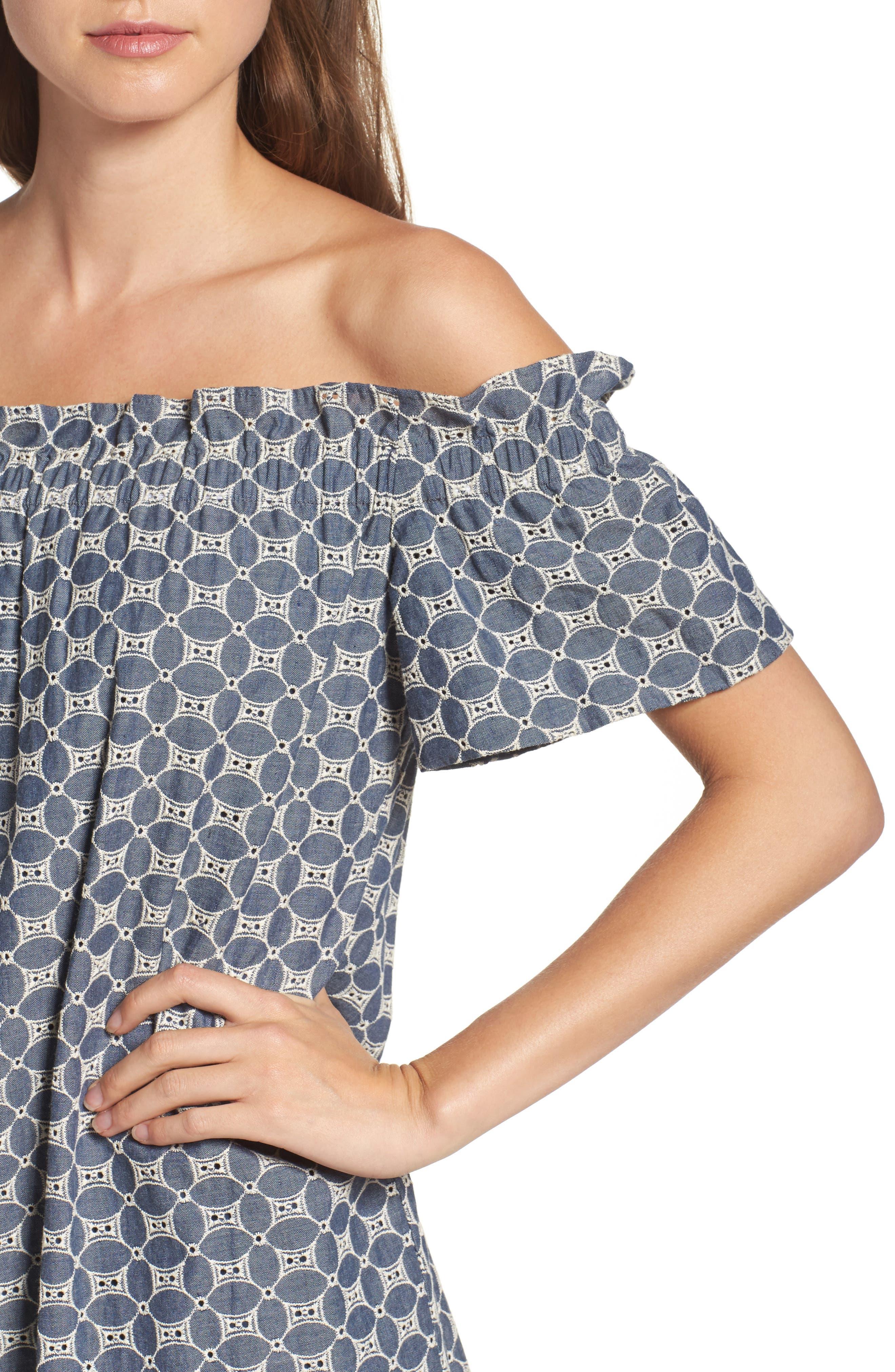 Alternate Image 5  - Chelsea28 Off the Shoulder Dress