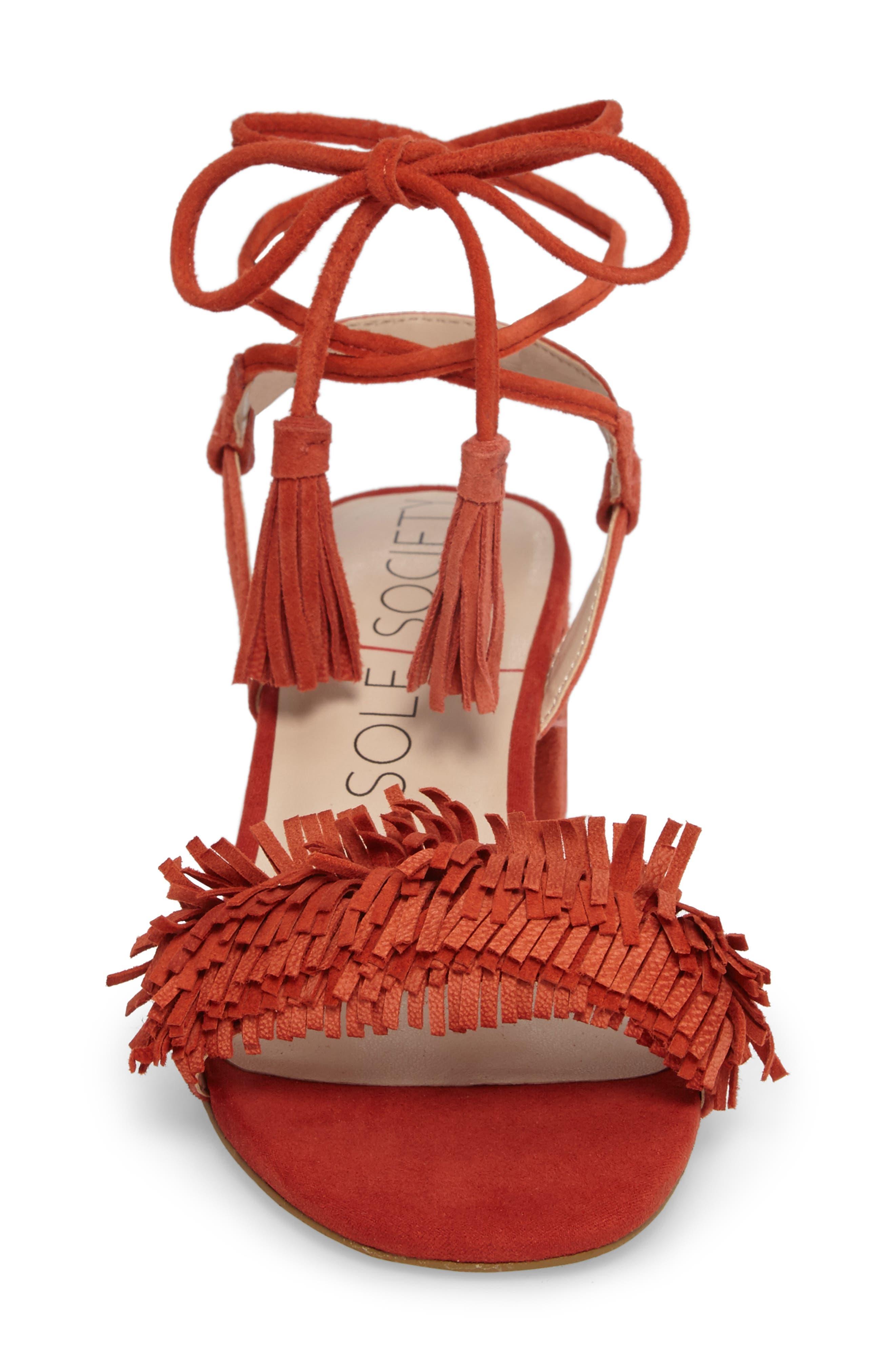 Alternate Image 4  - Sole Society Sera Wraparound Fringe Sandal (Women)