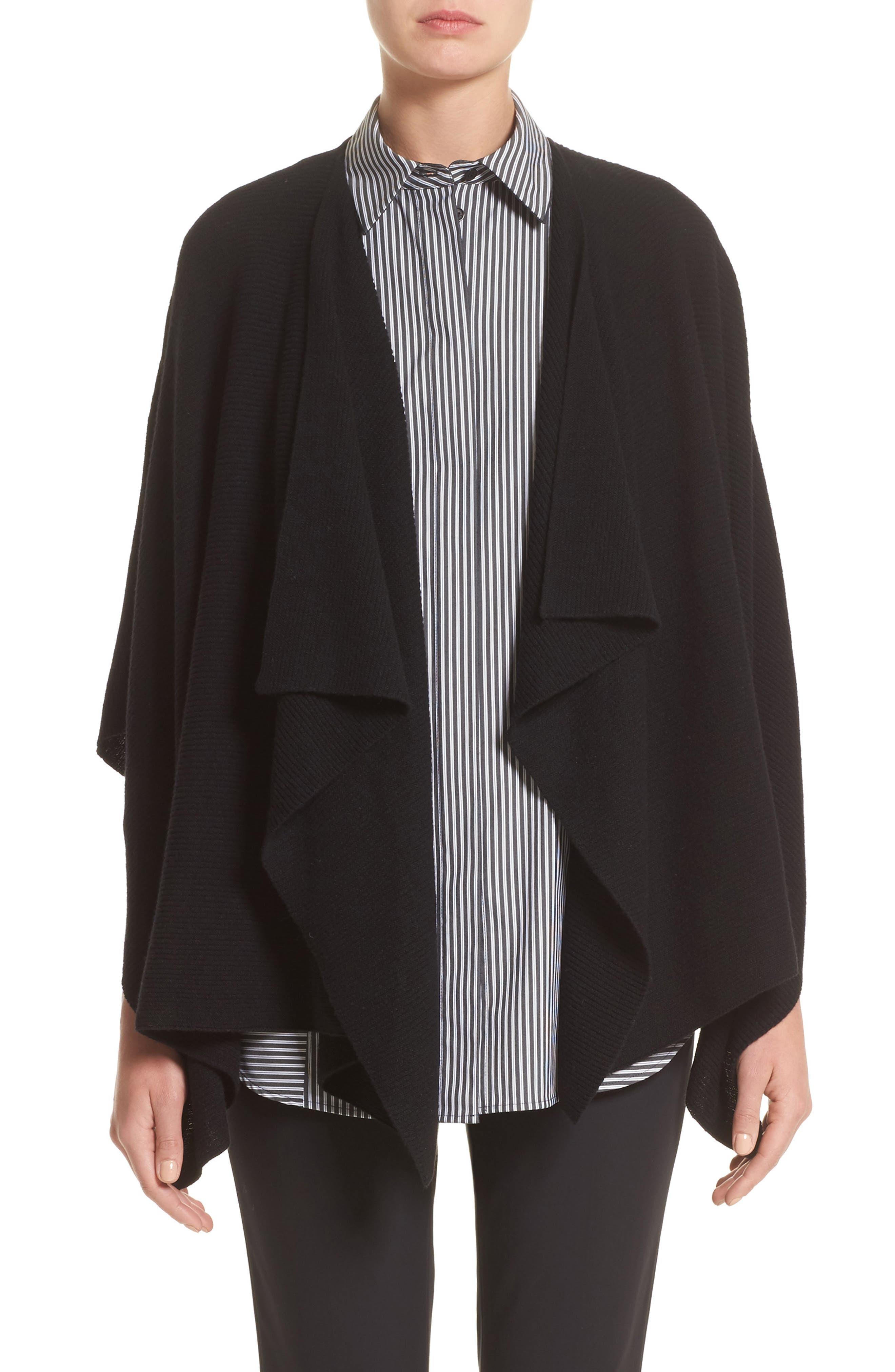 Cashmere Wrap,                             Main thumbnail 1, color,                             Black
