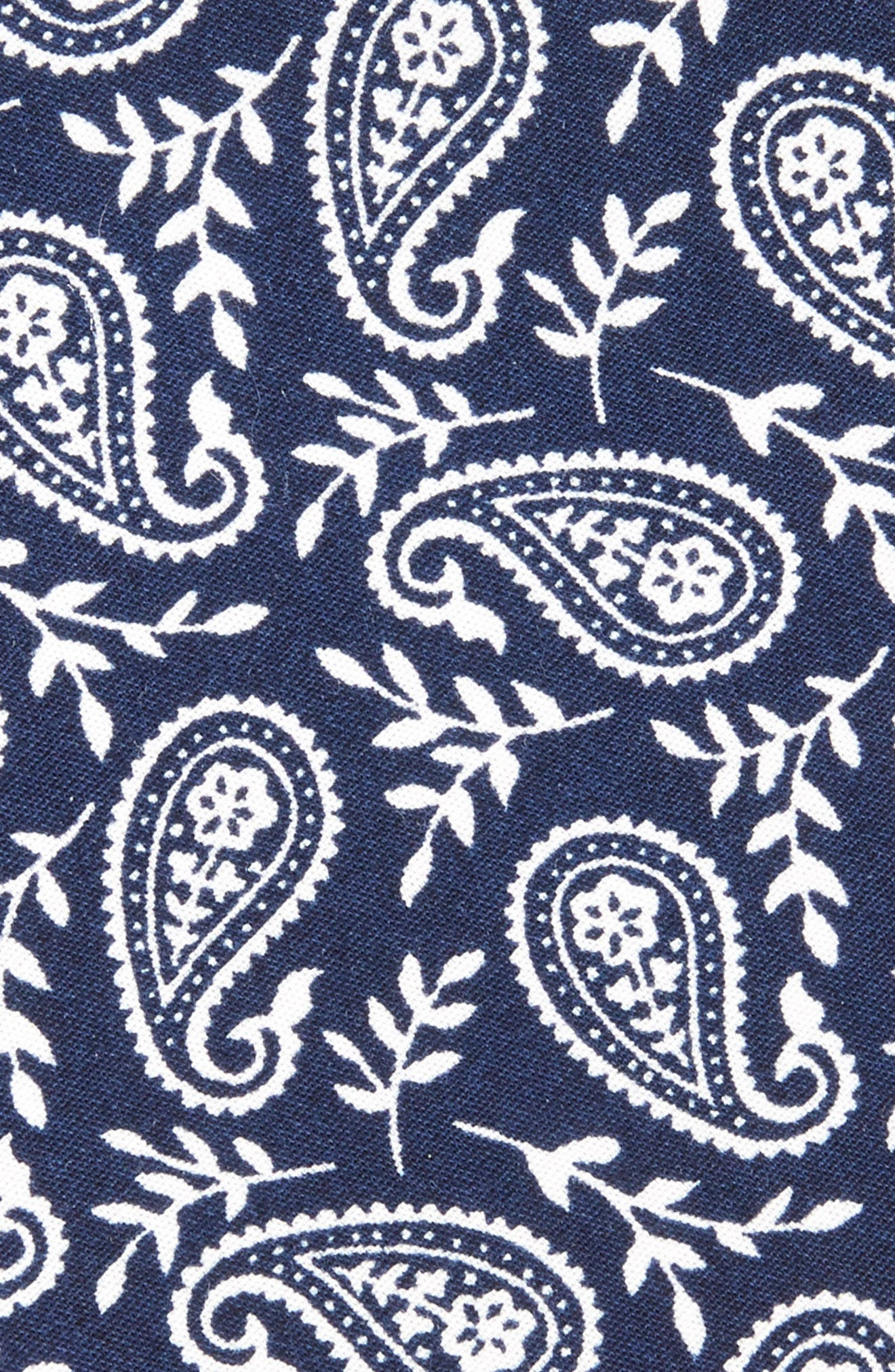 Paisley Cotton Skinny Tie,                             Alternate thumbnail 2, color,                             Navy