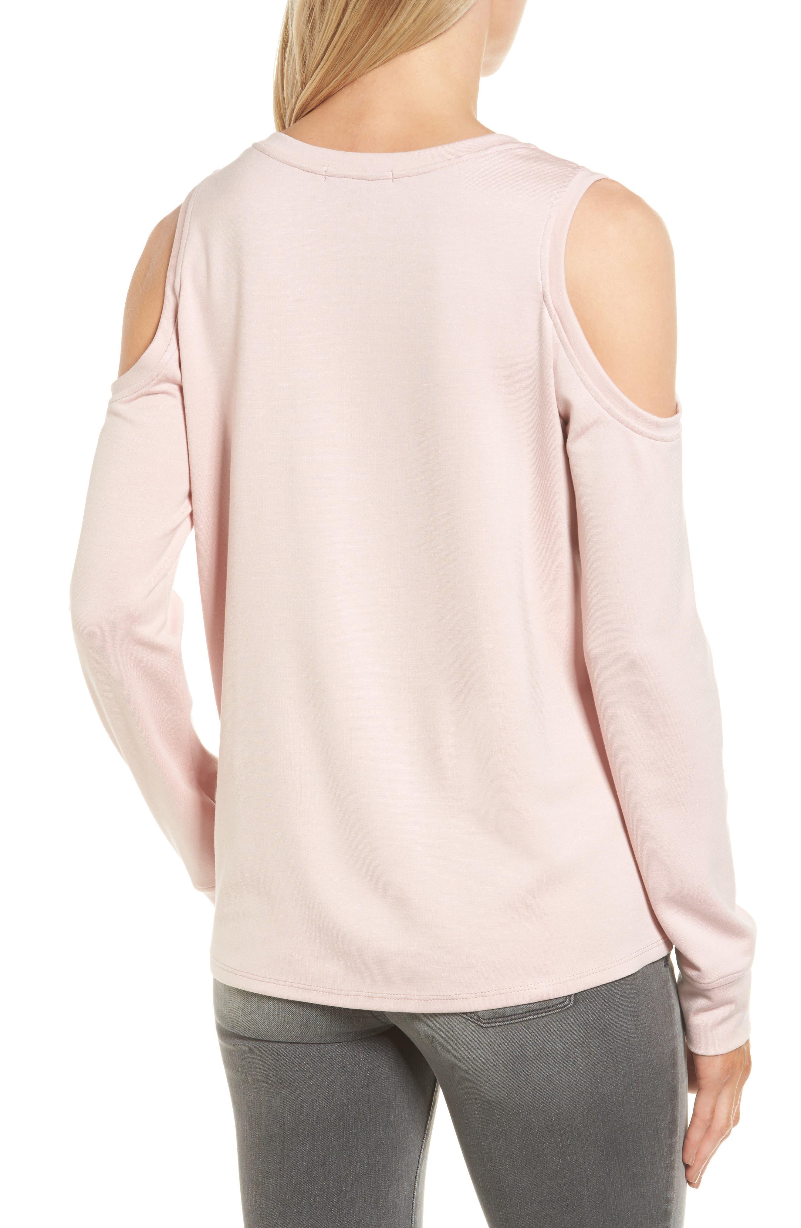 Alternate Image 2  - Gibson Cold Shoulder Sweatshirt (Regular & Petite)