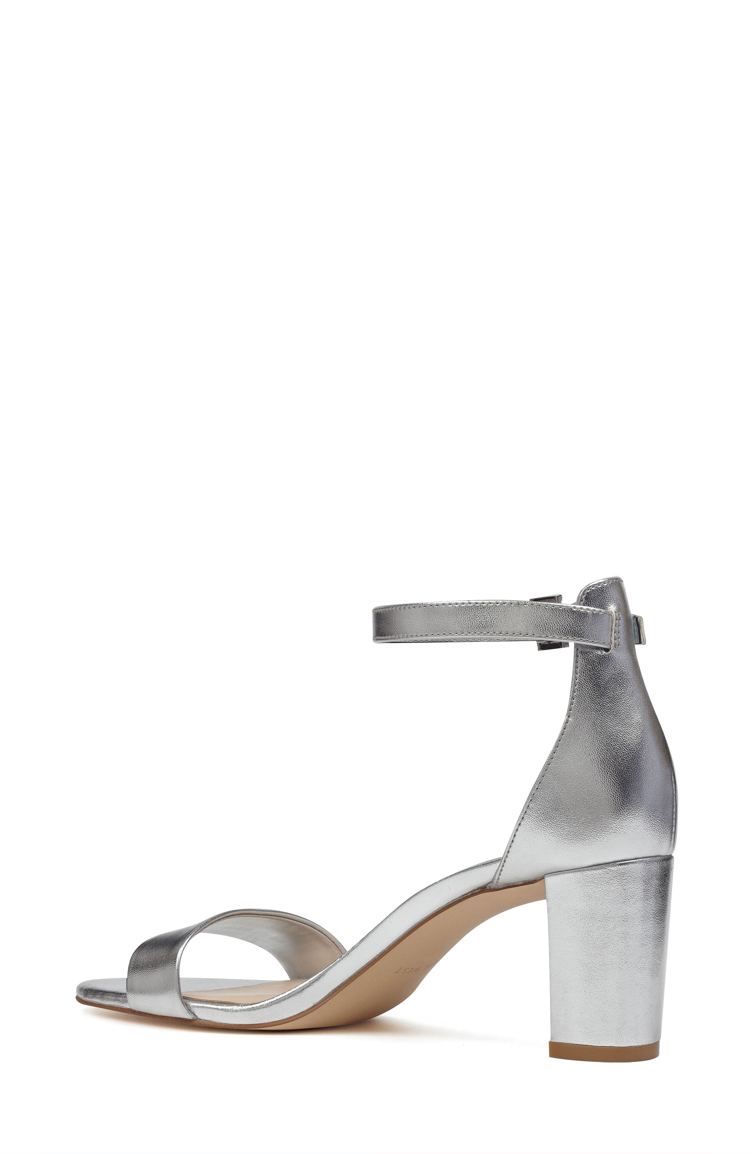 Pruce Ankle Strap Sandal,                             Alternate thumbnail 2, color,                             Silver Fabric