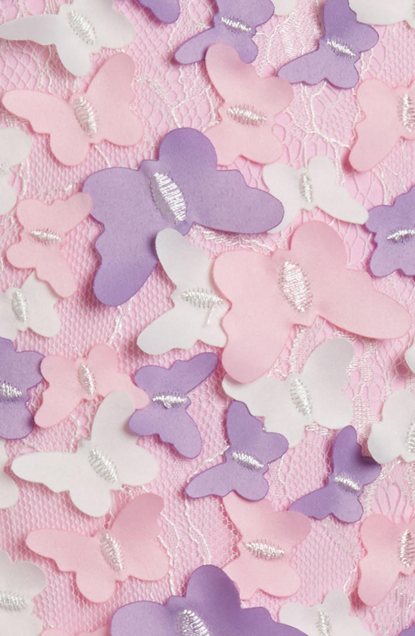 Butterfly Sleeveless Dress,                             Alternate thumbnail 3, color,                             Pink/ Purple Multi