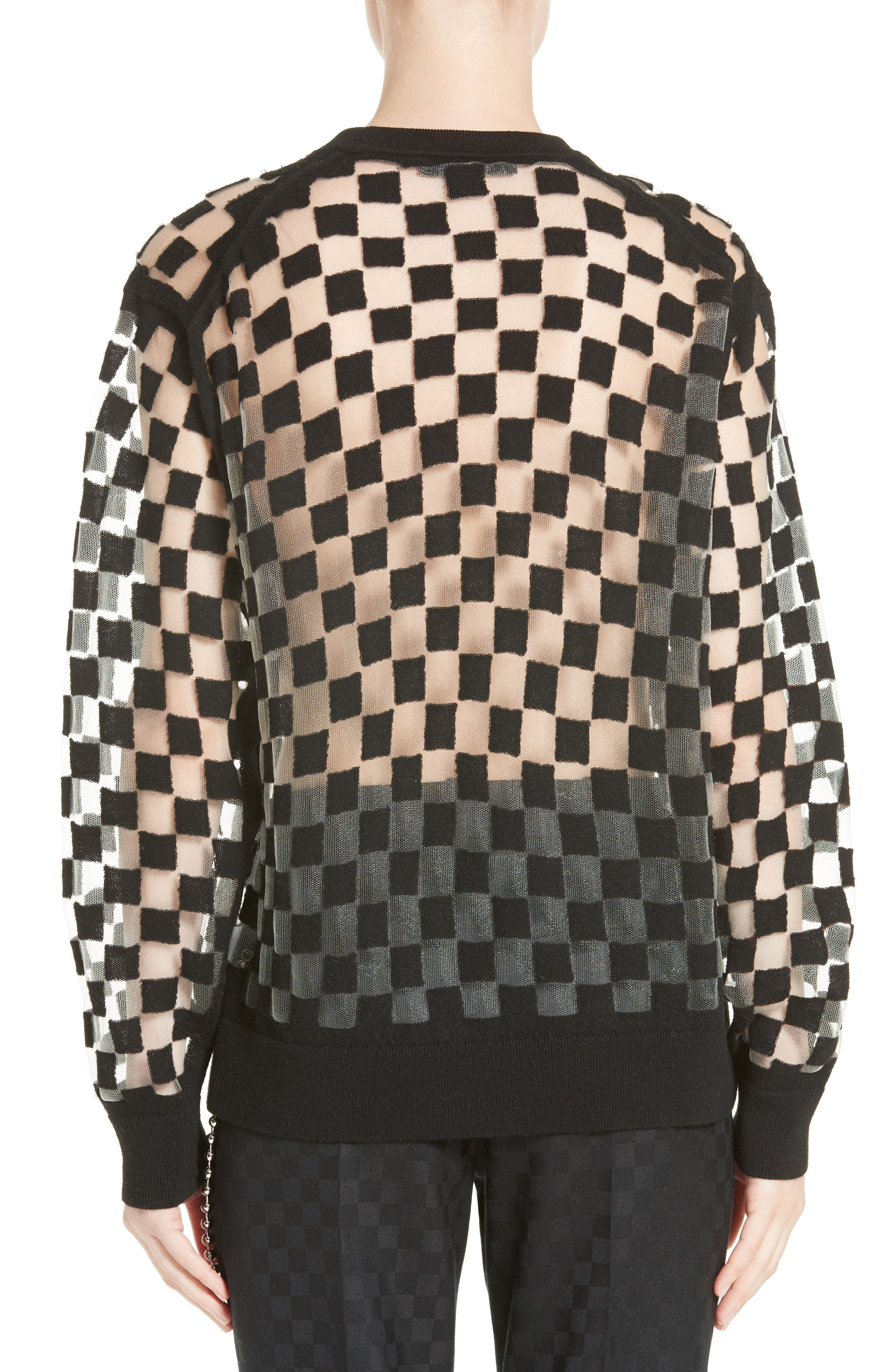 Alternate Image 2  - Alexander Wang Checkerboard Pullover