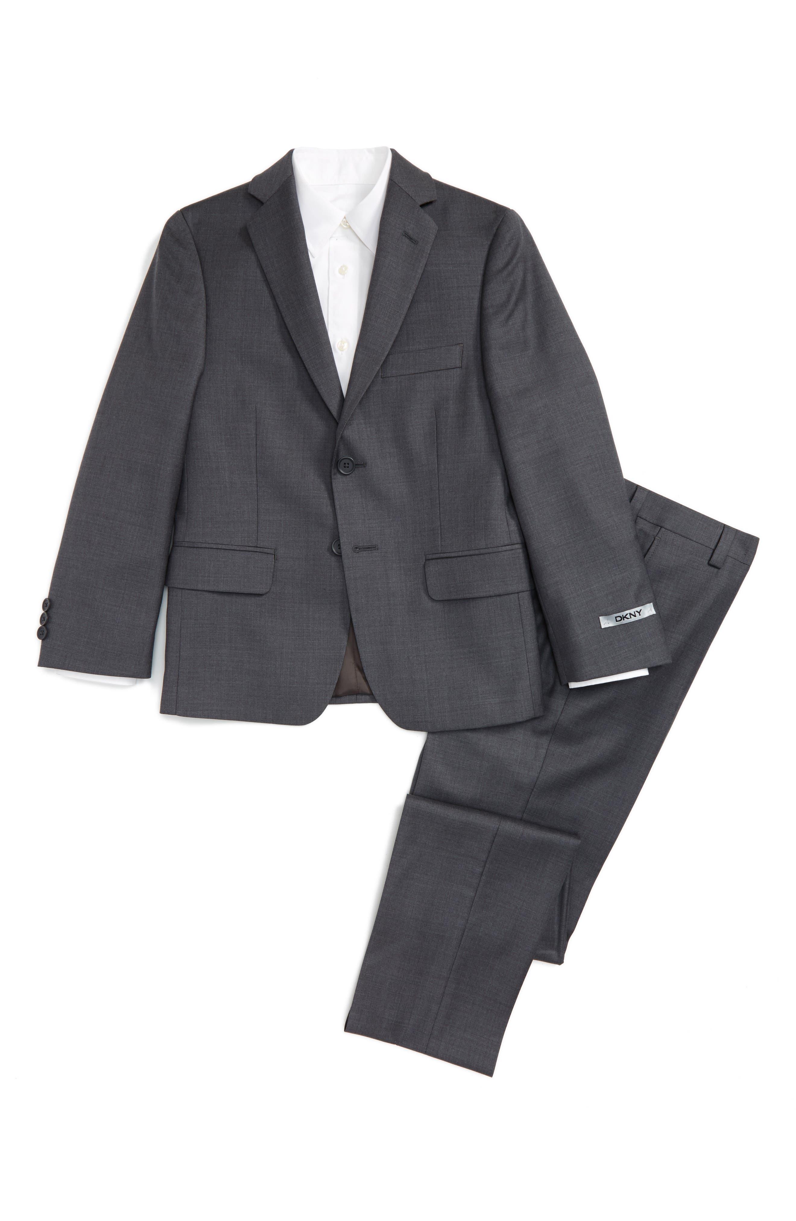 DKNY Wool Suit (Big Boys)