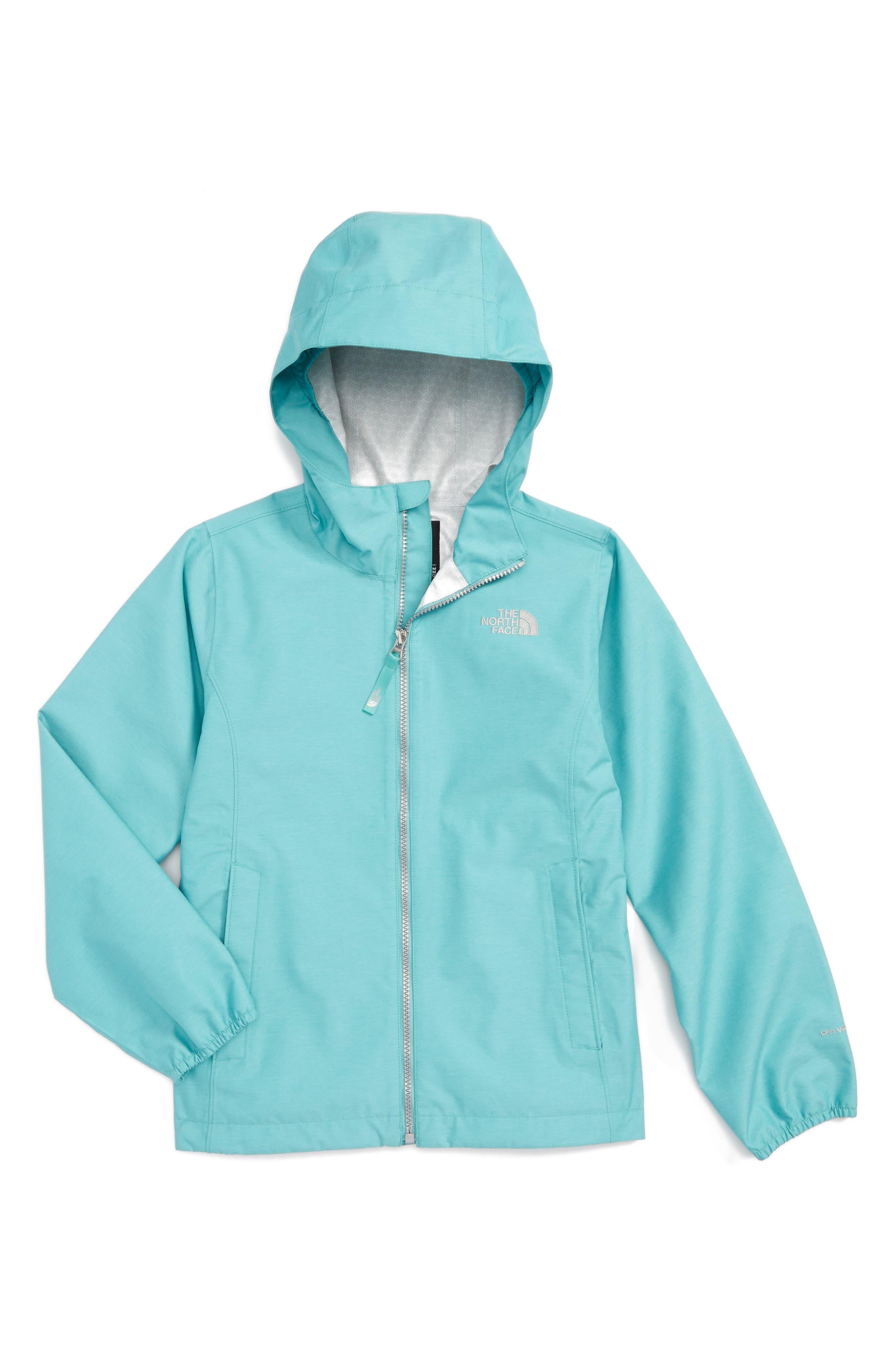 Magnolia Waterproof HyVent<sup>®</sup> Rain Jacket,                         Main,                         color, Agate Green Heather