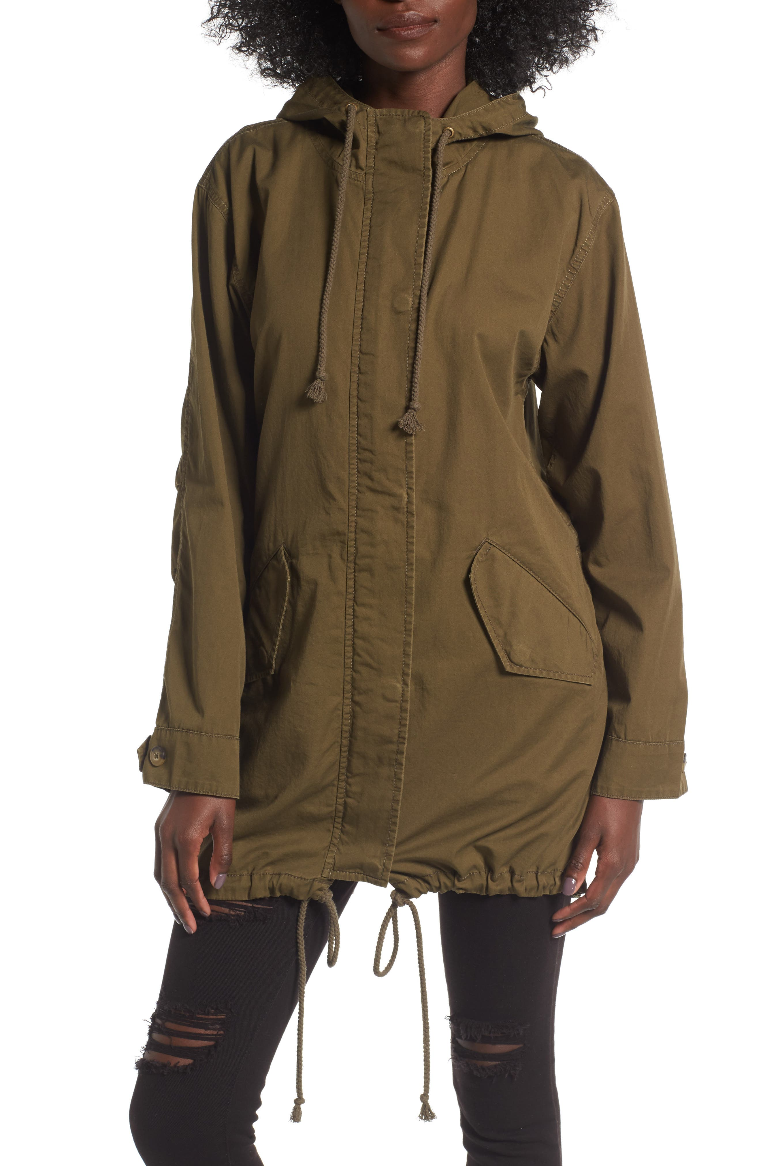 Alternate Image 4  - BP. Hooded Cotton Anorak