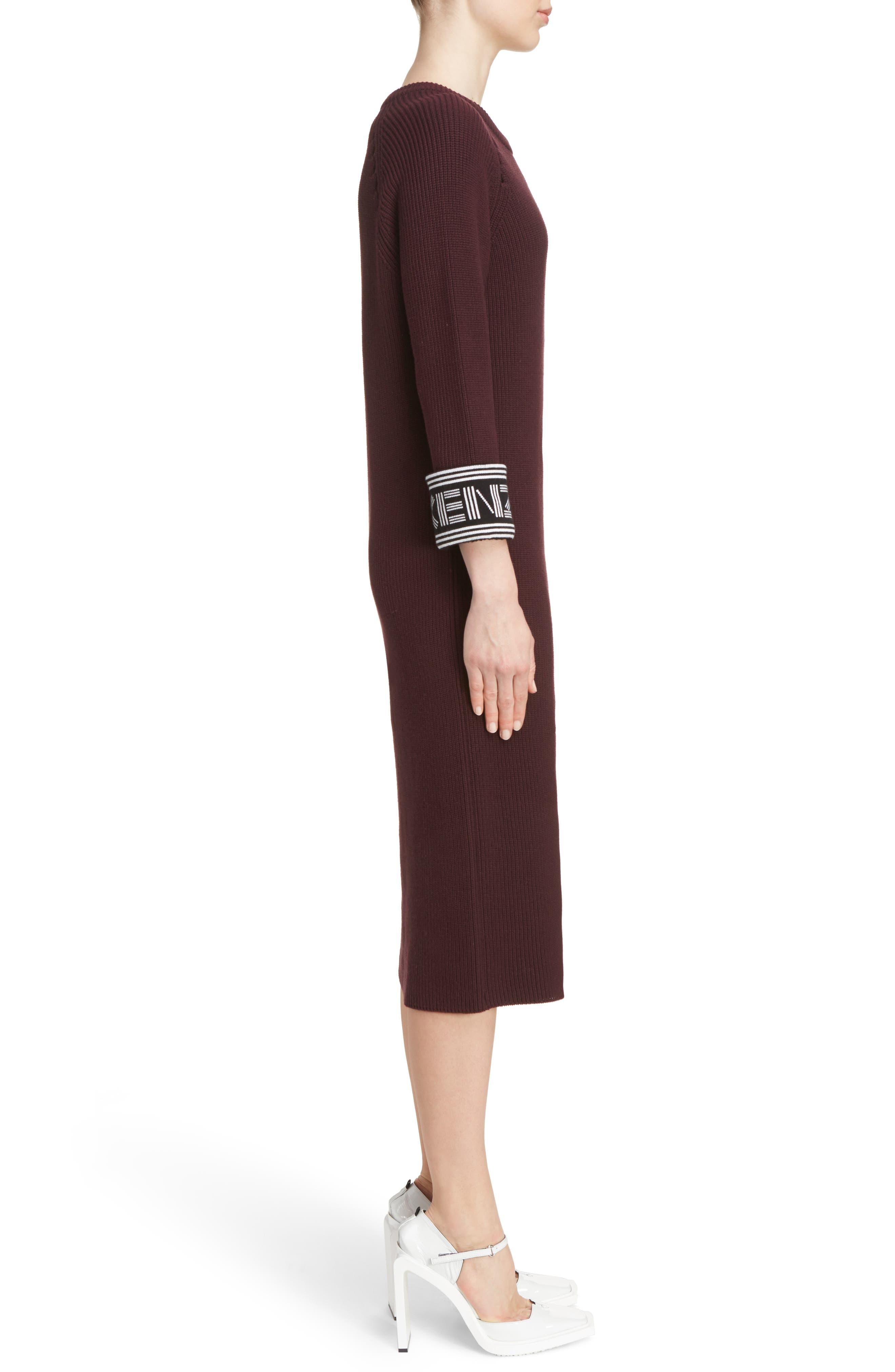 Alternate Image 3  - KENZO Sport Knit Midi Dress