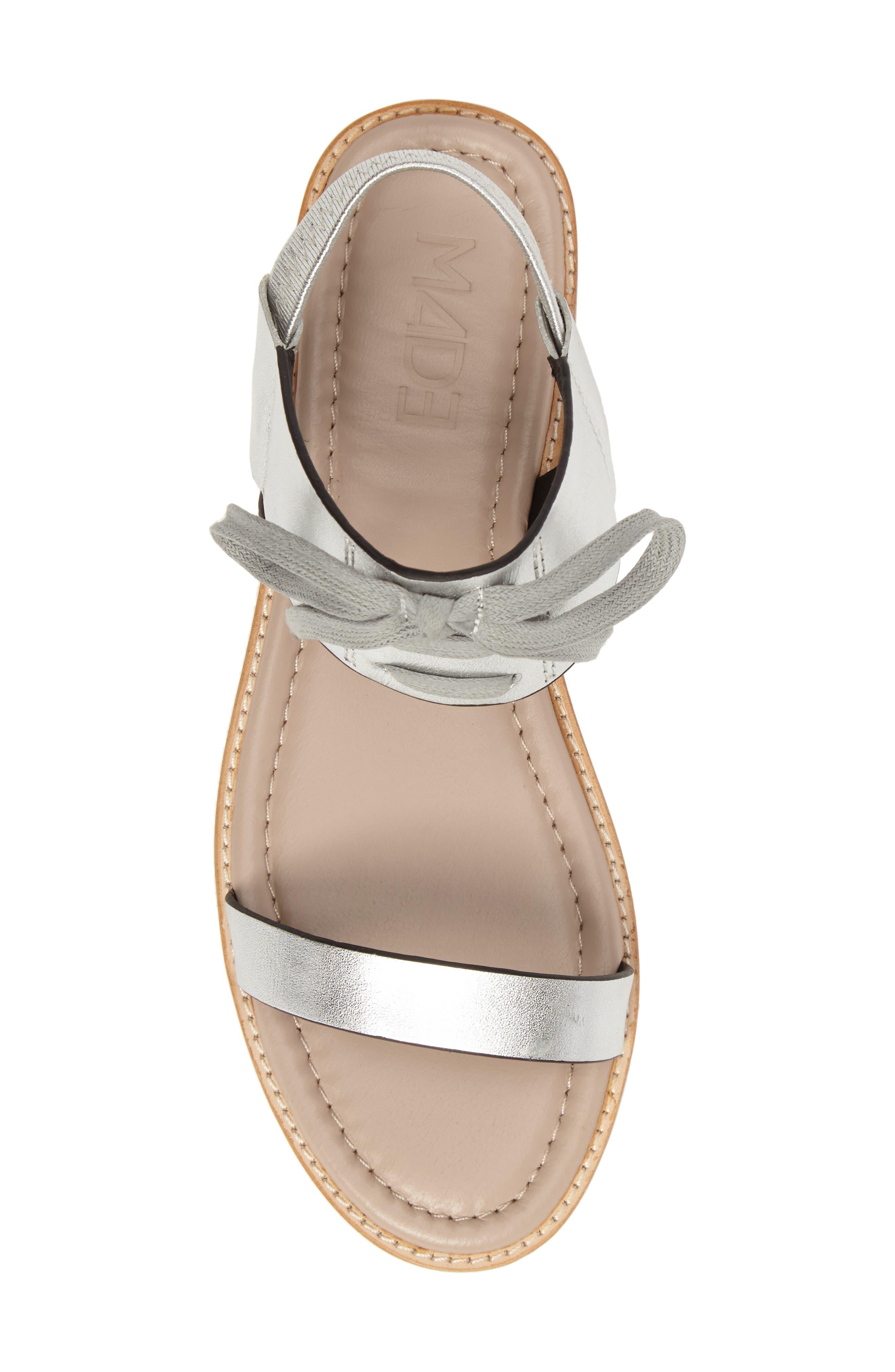 M4D3 Hailey Slingback Sandal,                             Alternate thumbnail 5, color,                             Silver Leather