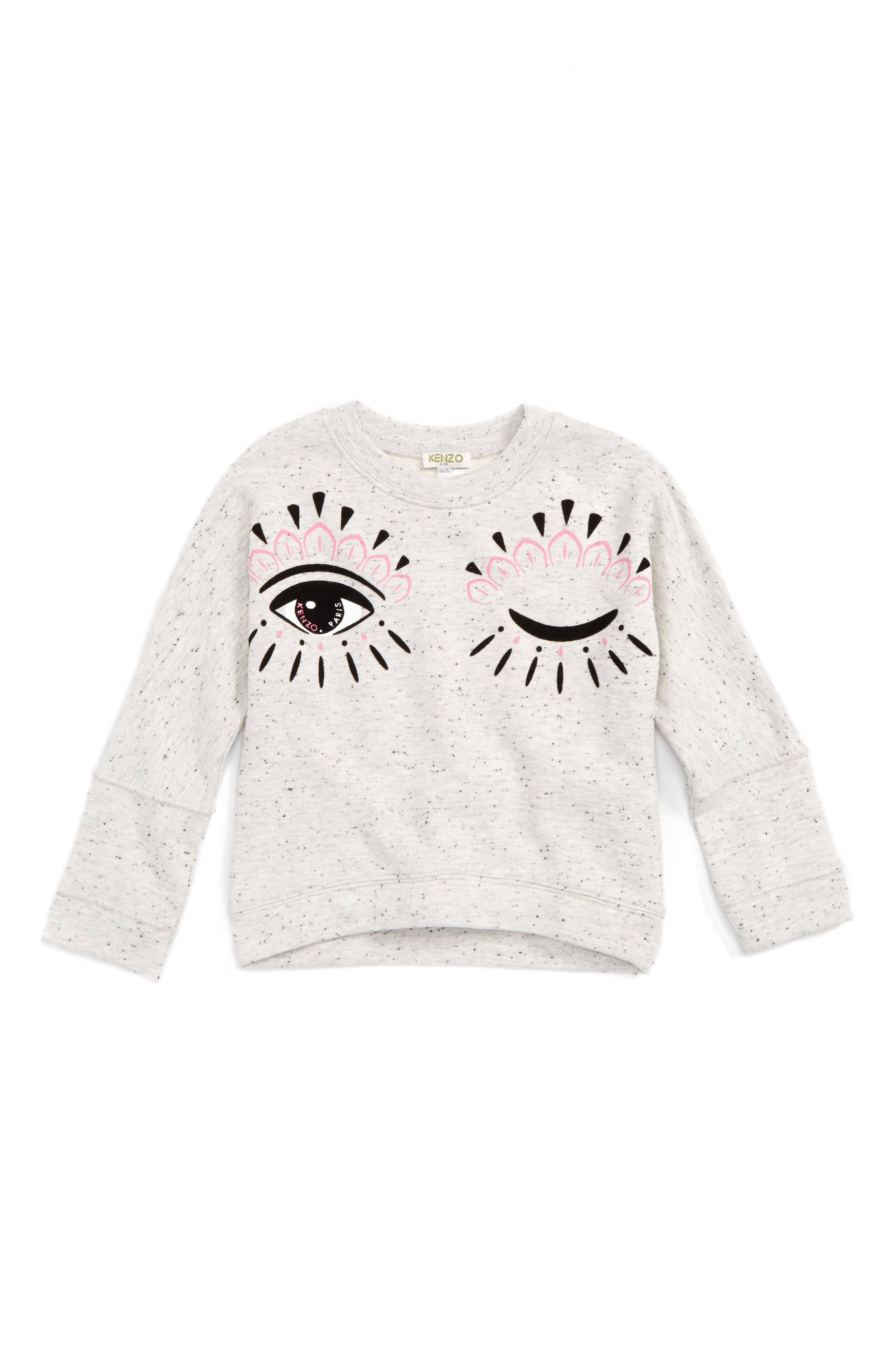 Main Image - KENZO Blinking Eye Sweatshirt (Toddler Girls, Little Girls & Big Girls)
