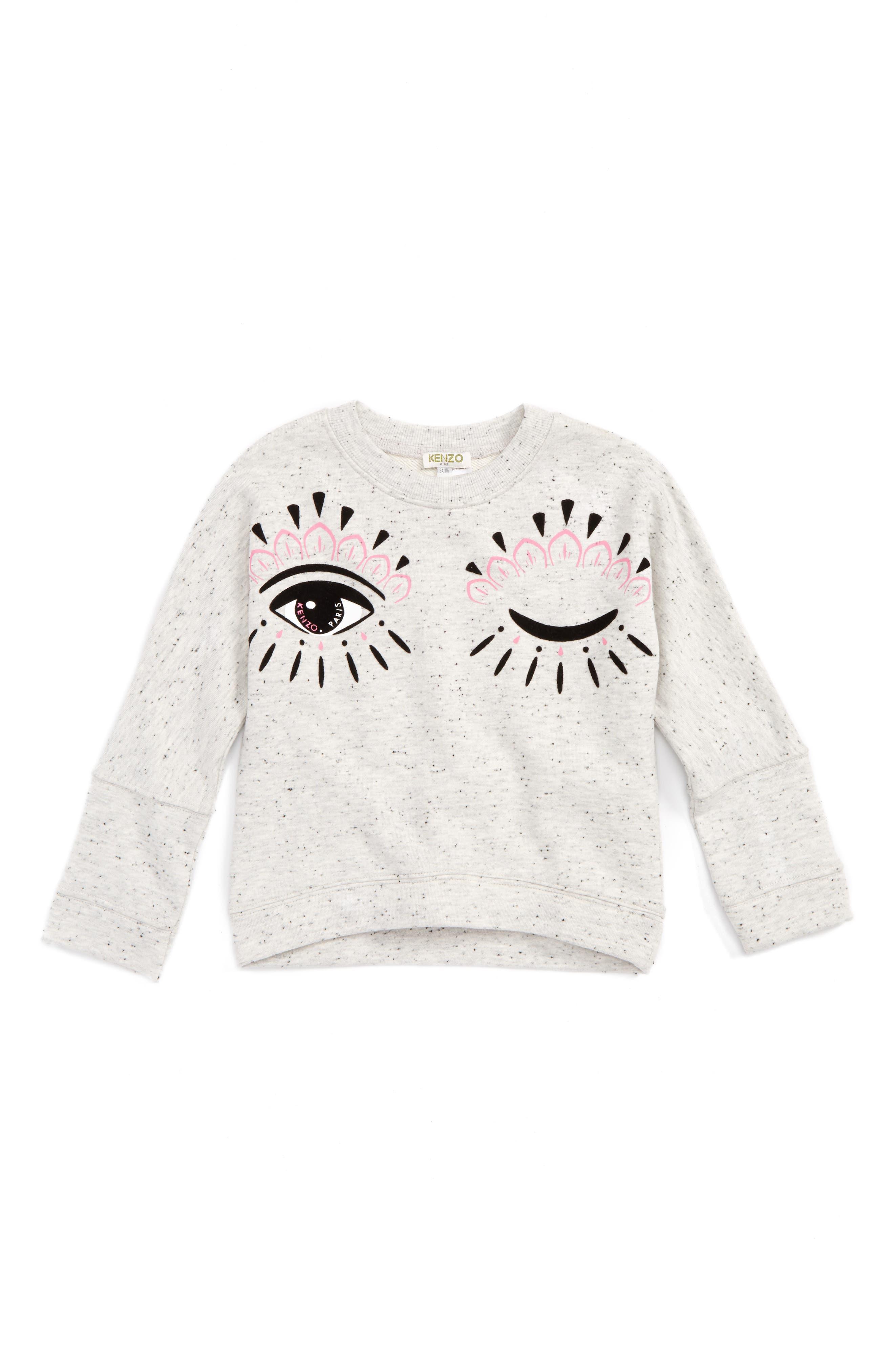 Blinking Eye Sweatshirt,                         Main,                         color, Grey