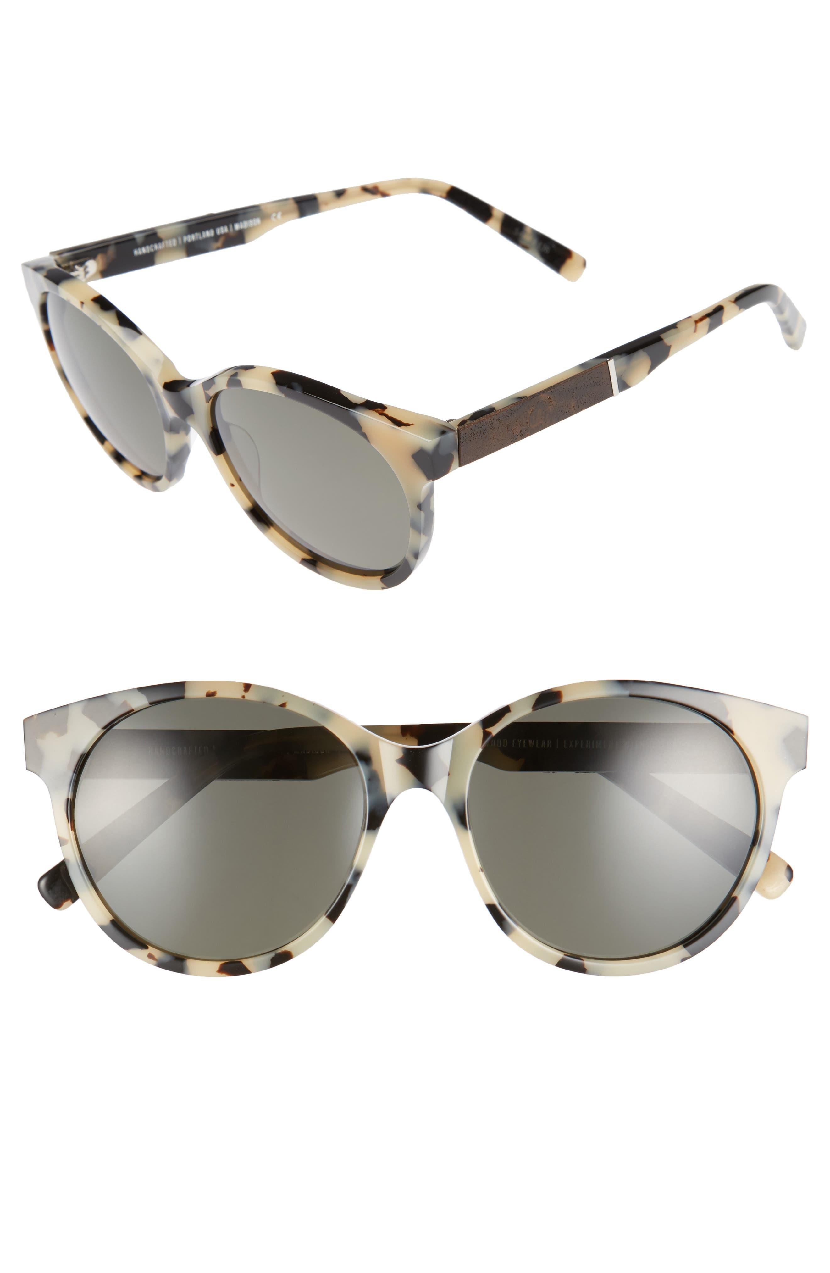 Shwood Madison 54mm Polarized Sunglasses