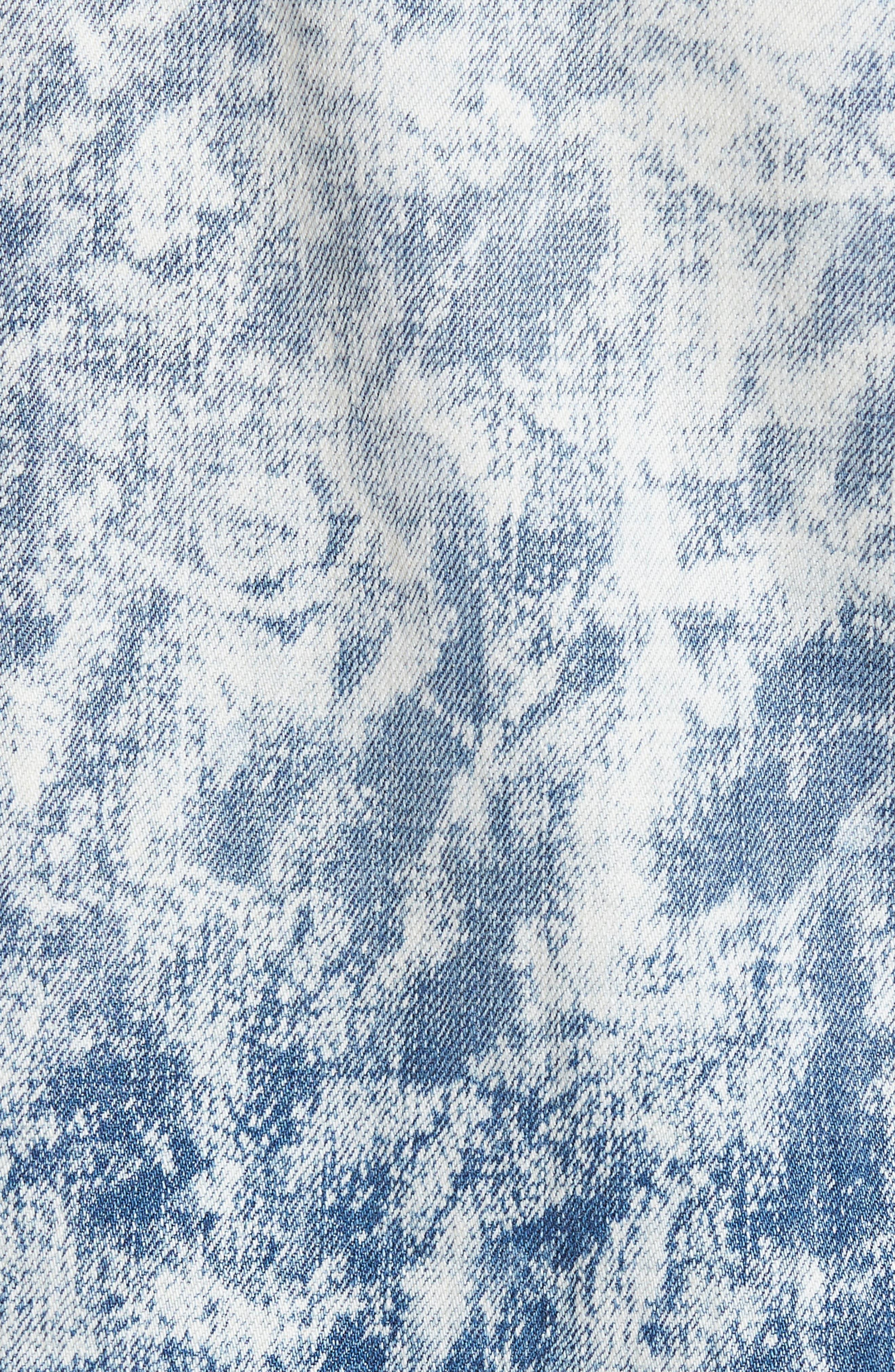 Alternate Image 5  - True Religion Brand Jeans Jimmy Bleached Denim Bomber Jacket