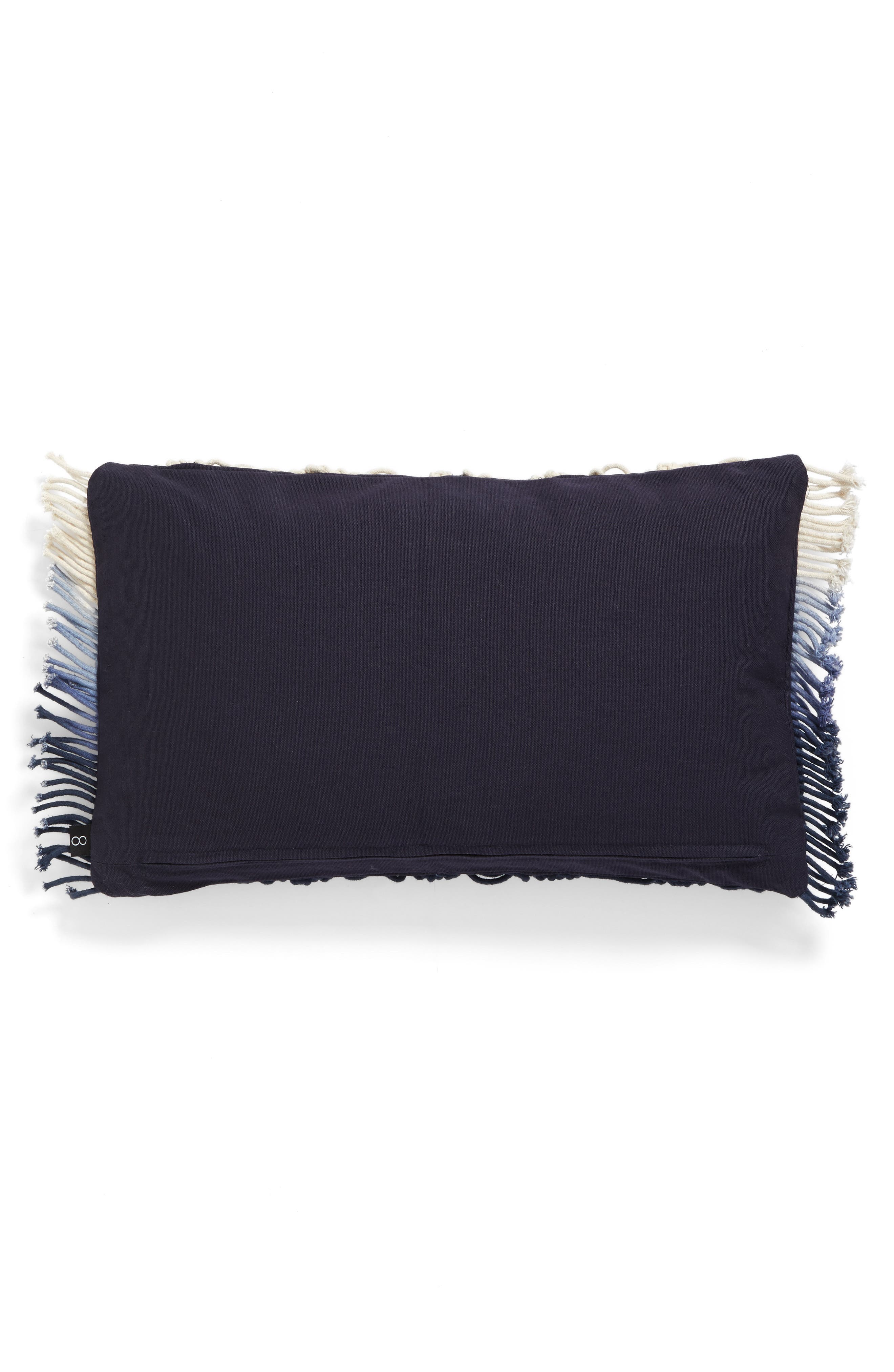Dip Dye Pillow,                             Alternate thumbnail 2, color,                             Blue/ White