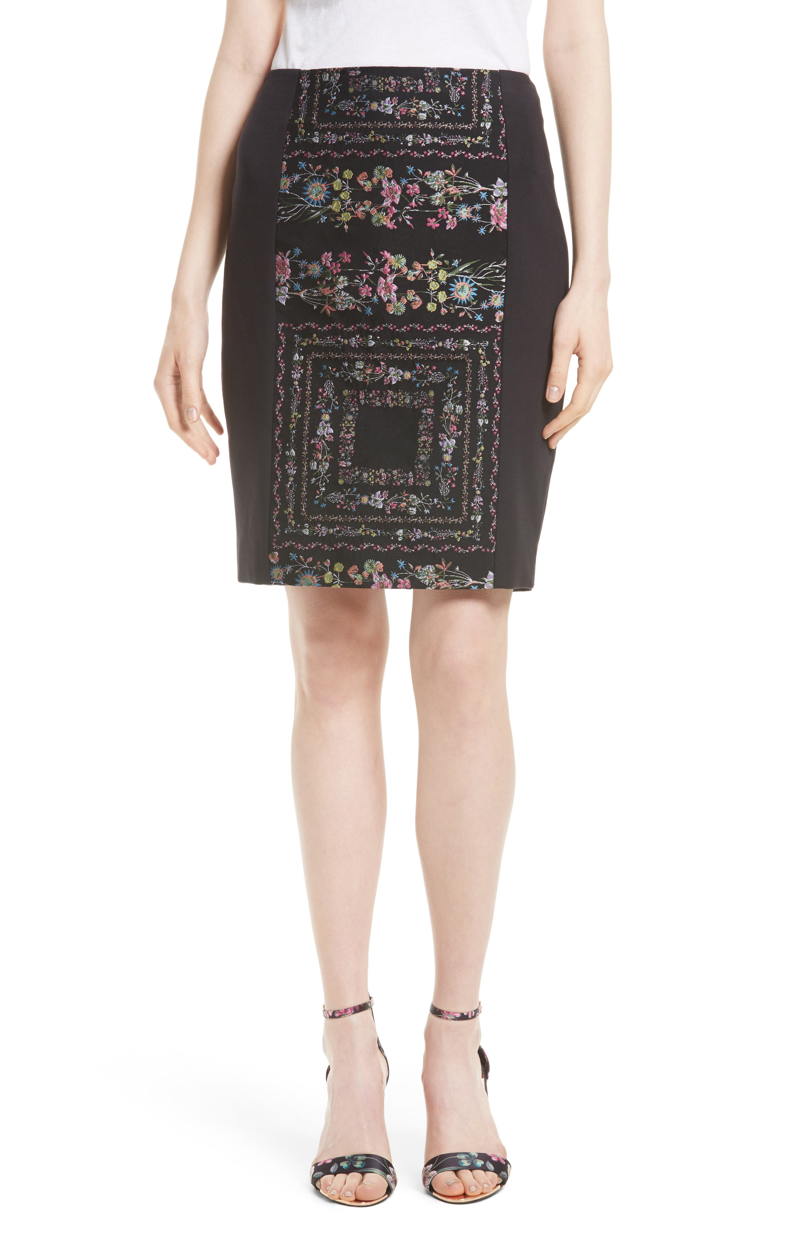 Ted Baker London Annasa Floral Embroidered Pencil Skirt