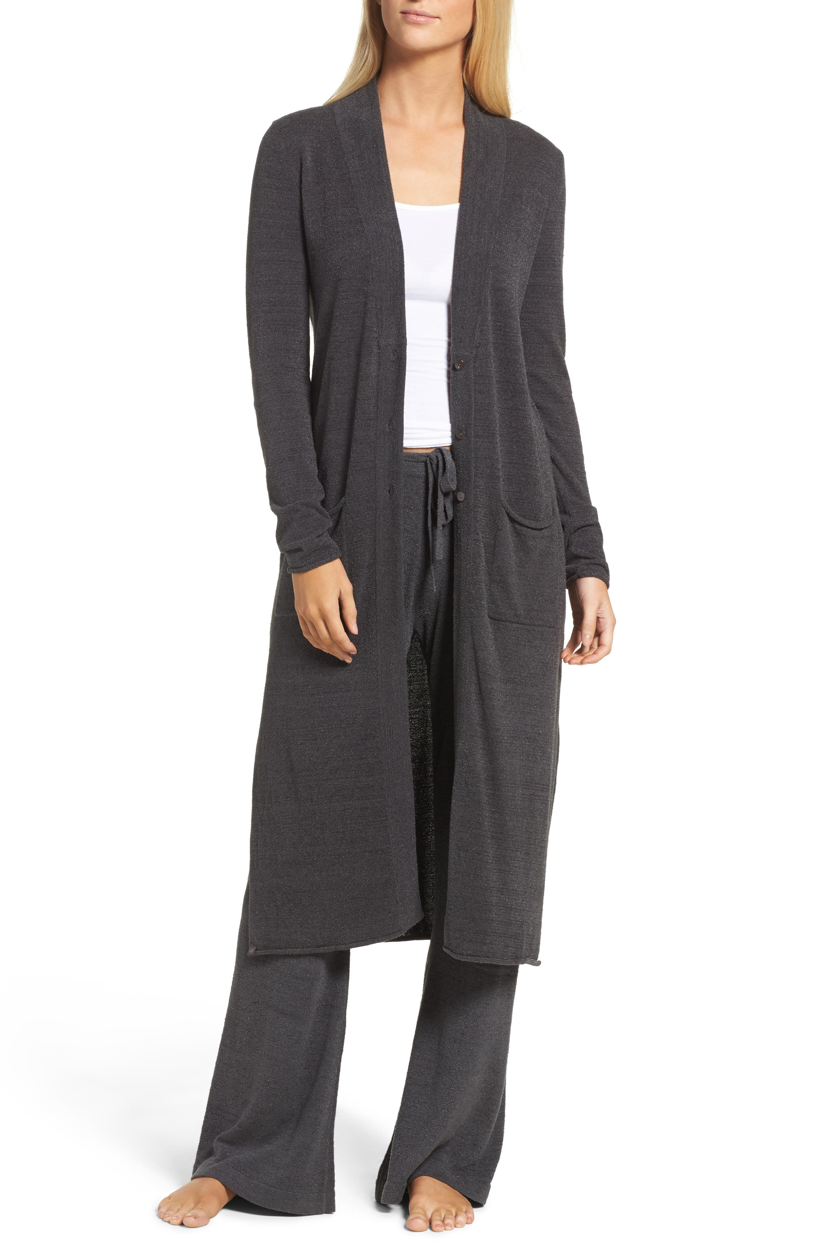 Barefoot Dreams Cozychic Ultra Lite<sup>®</sup> Duster,                             Main thumbnail 1, color,                             Carbon