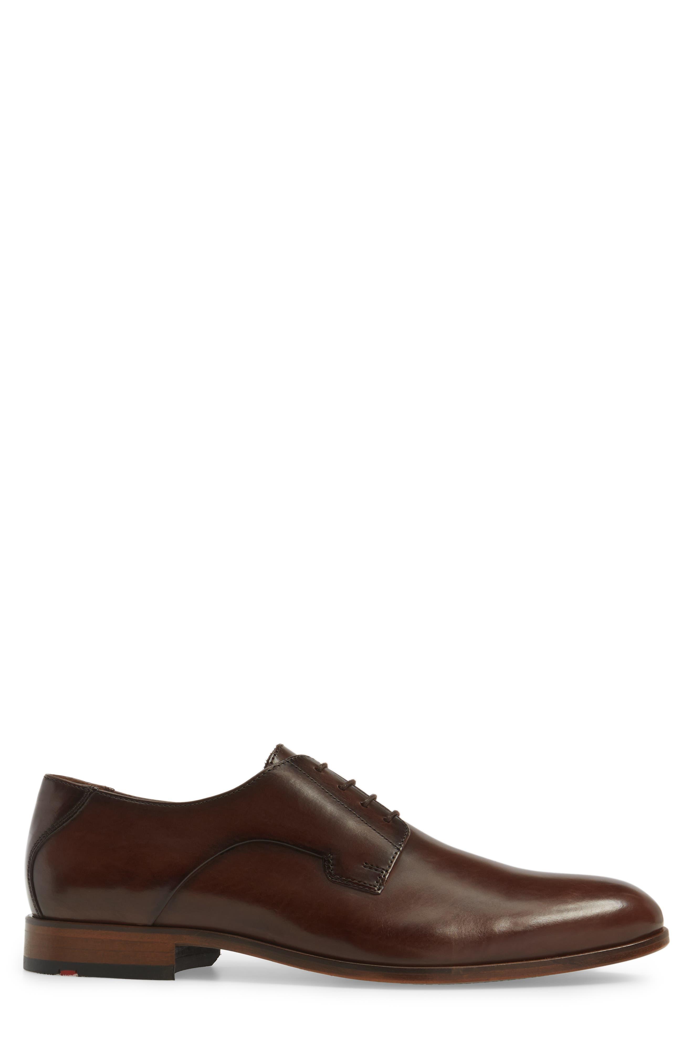 Mannex Plain Toe Derby,                             Alternate thumbnail 3, color,                             T.D.Moro Leather