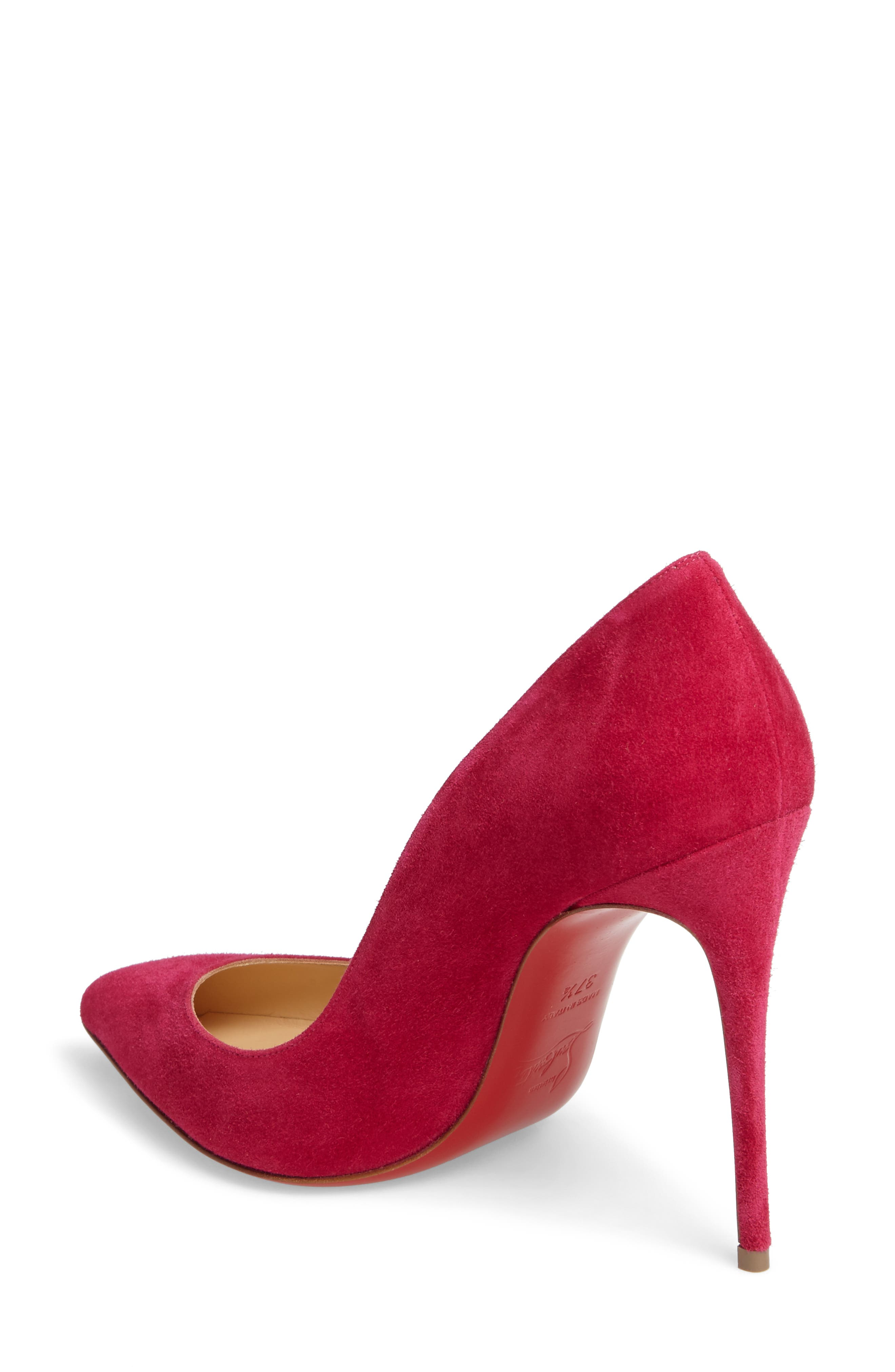 Pigalle Follies Pointy Toe Pump,                             Alternate thumbnail 2, color,                             Rosa Suede