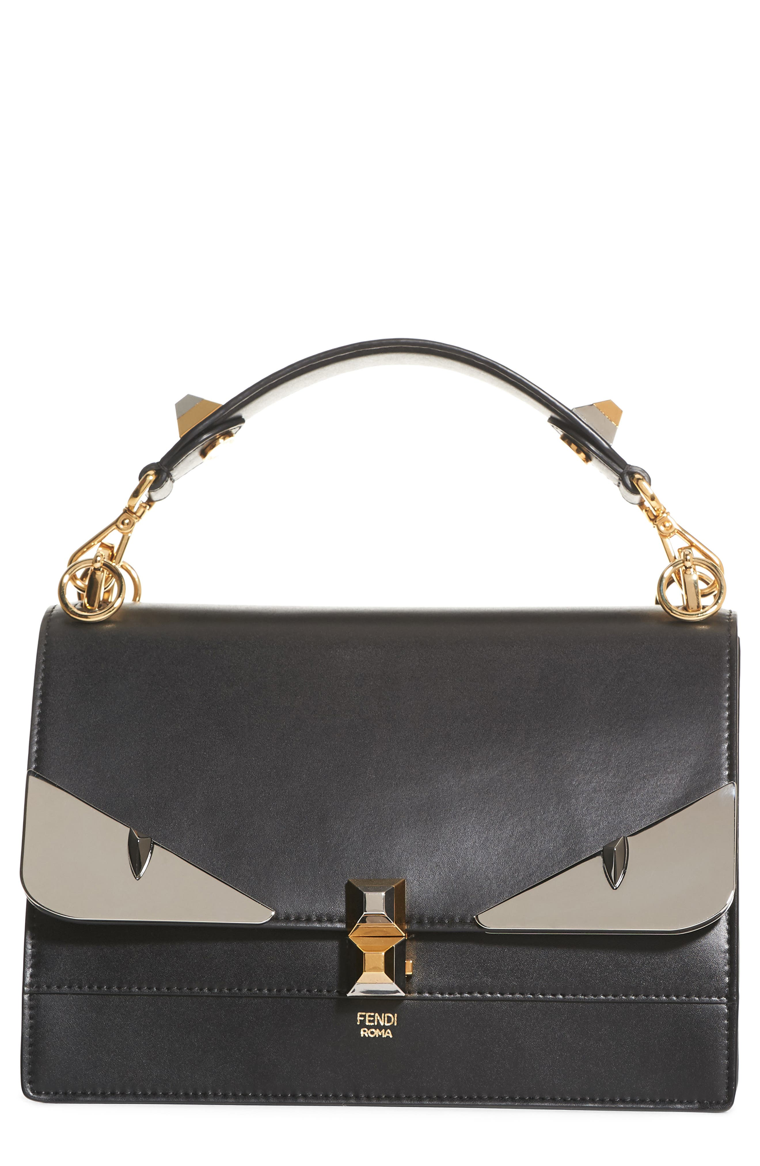 Alternate Image 1 Selected - Fendi Kan I Monster Calfskin Leather Shoulder Bag