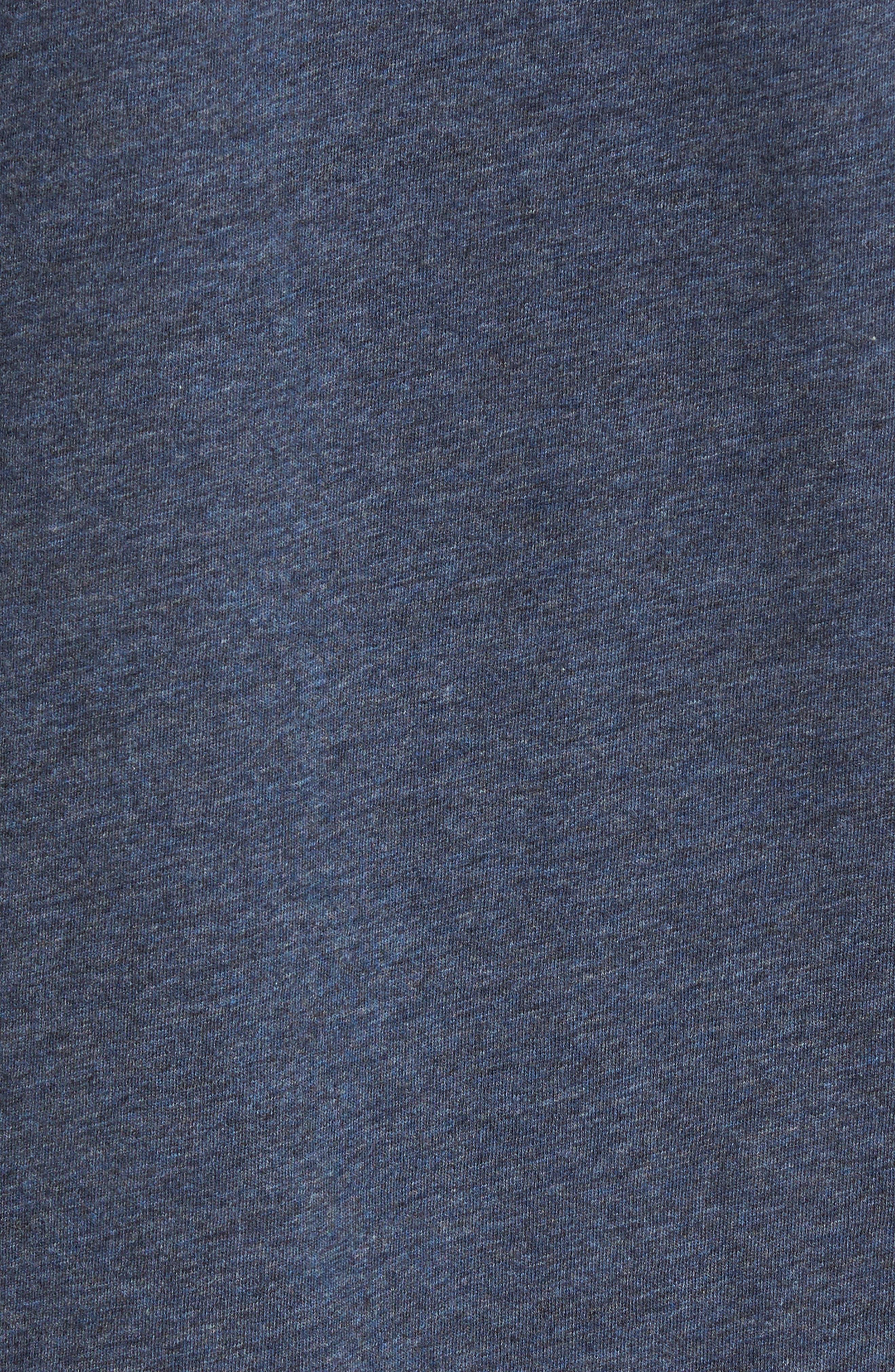 Slim V-Neck T-Shirt,                             Alternate thumbnail 5, color,                             Heather Navy