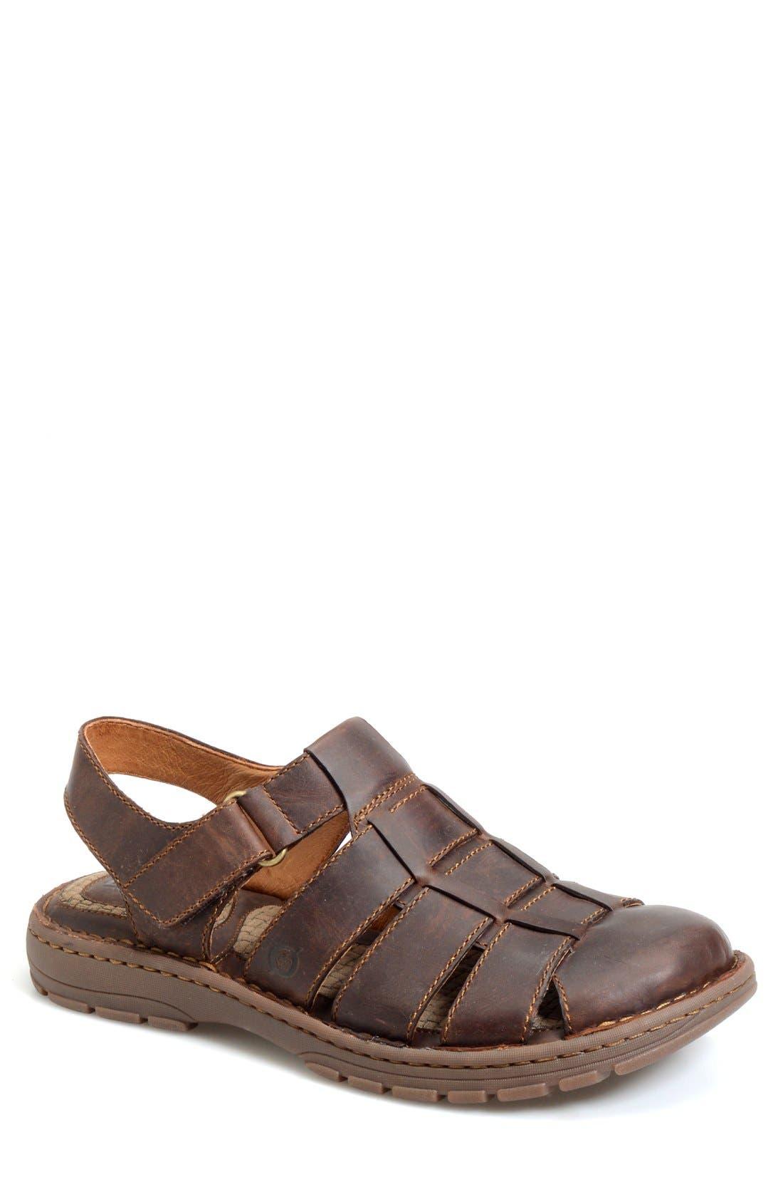 'Osmond' Leather Sandal,                             Main thumbnail 1, color,                             Mink