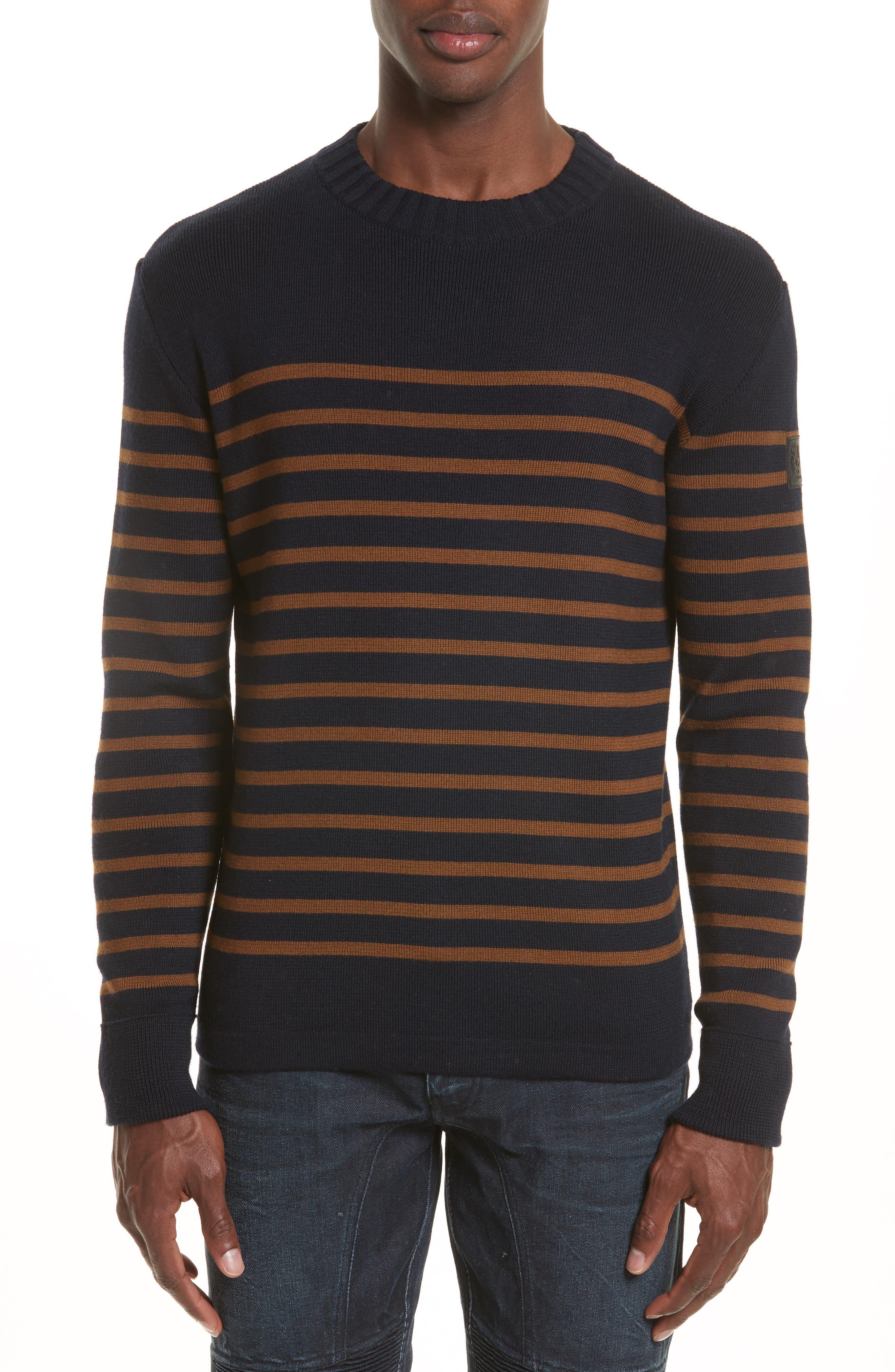 BELSTAFF Gaynesford Stripe Wool Blend Sweater