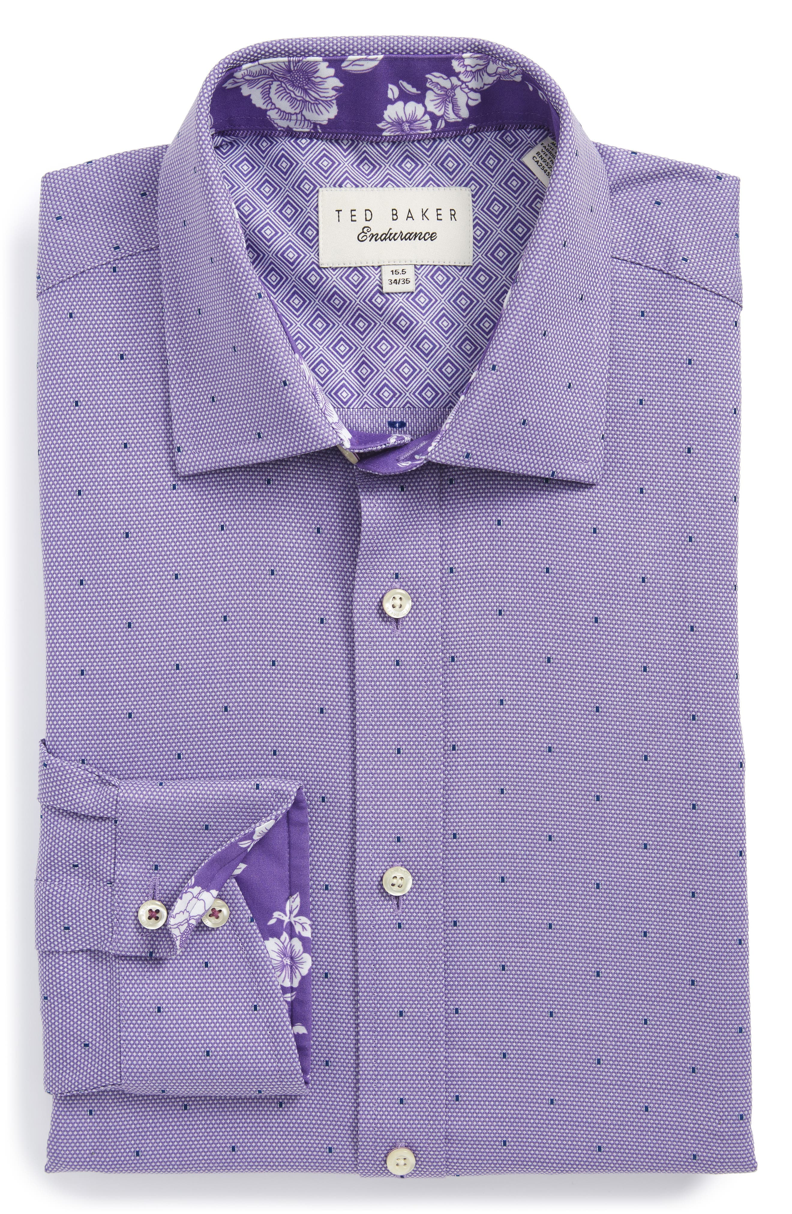 Ted Baker London Trim Fit Dot Dress Shirt