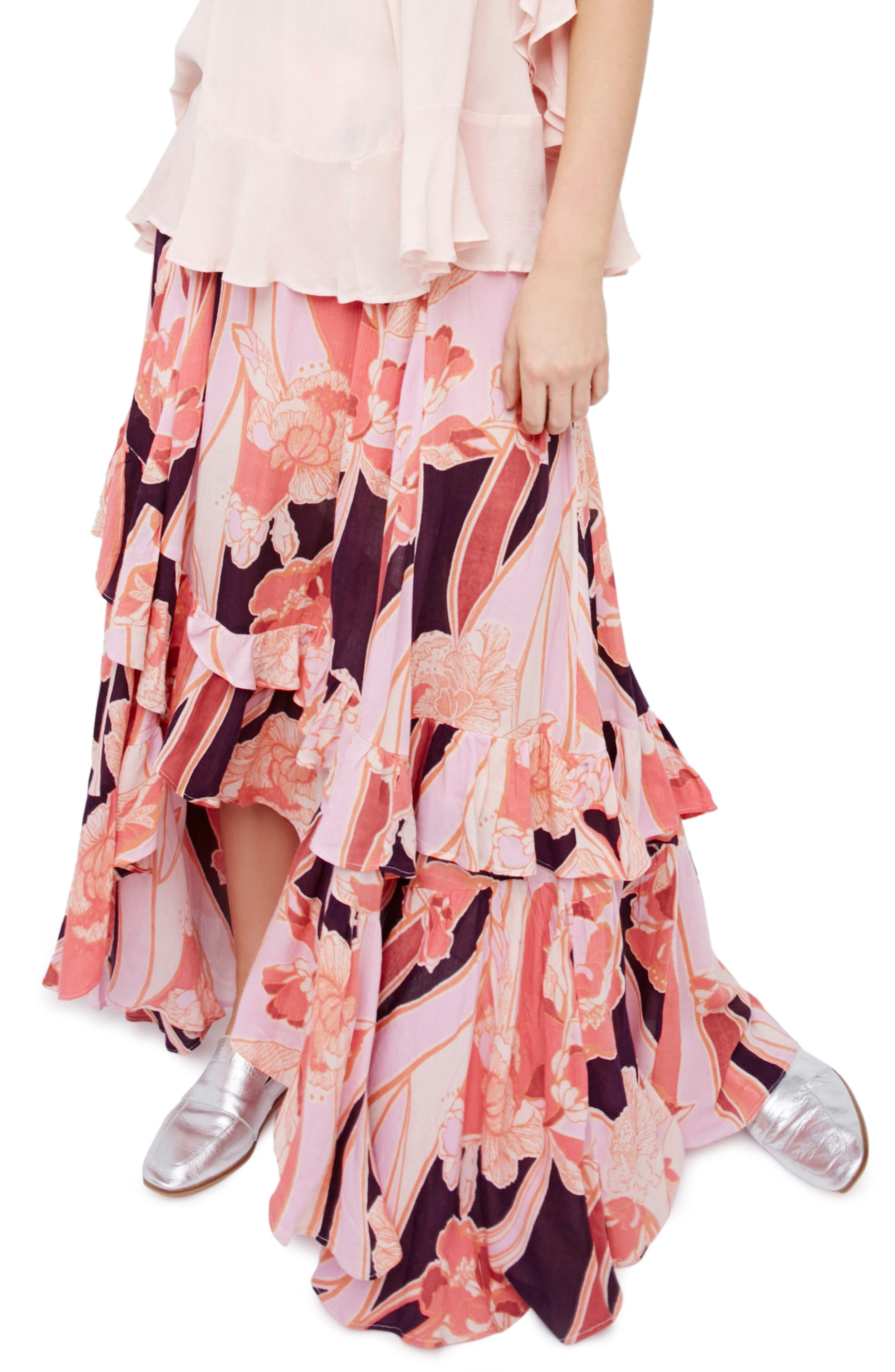 Main Image - Free People Bring Back the Summer Maxi Skirt
