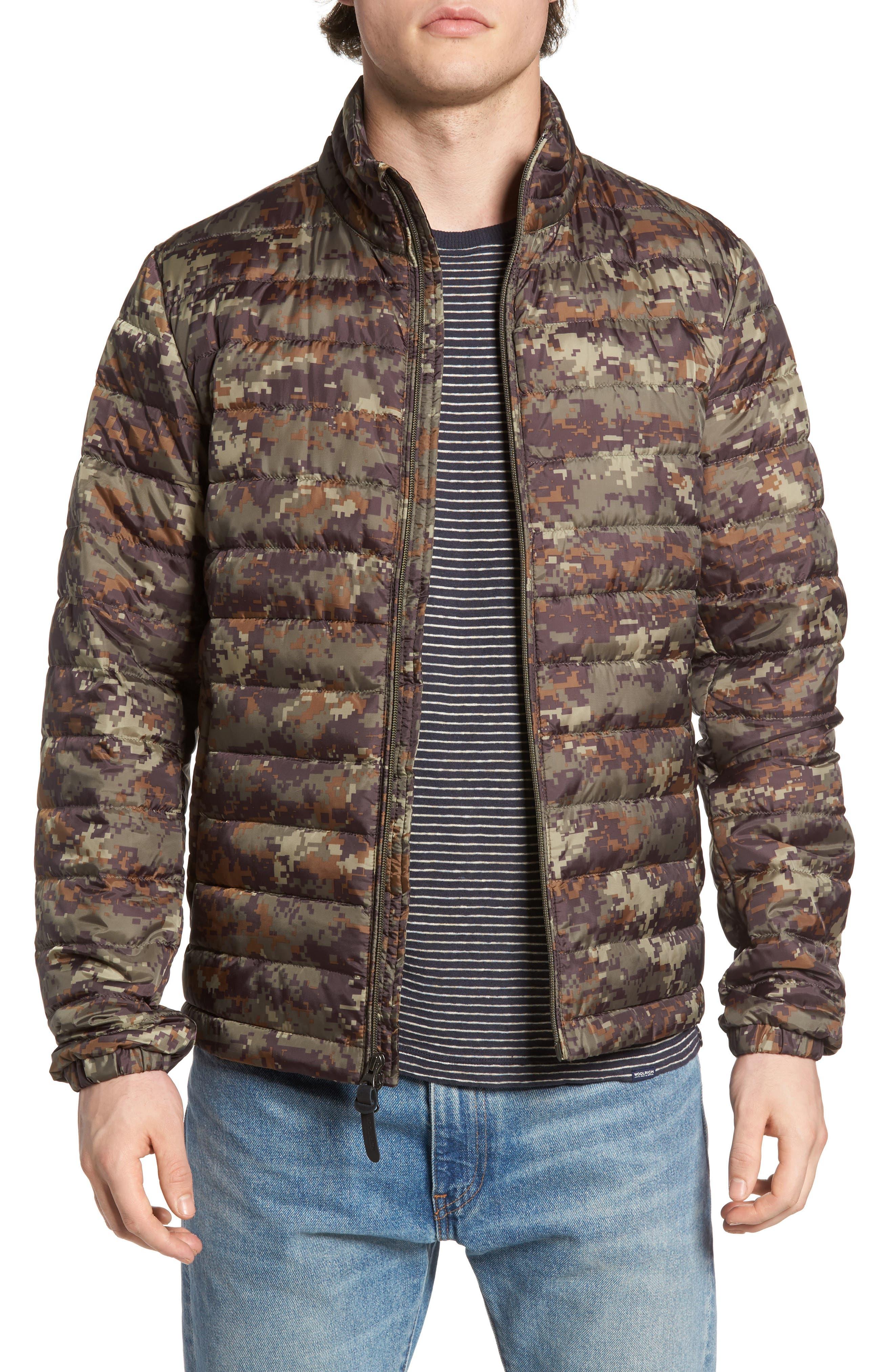 John Rich & Bros Camou Sundance Down Jacket,                         Main,                         color, Camo Dusty Green