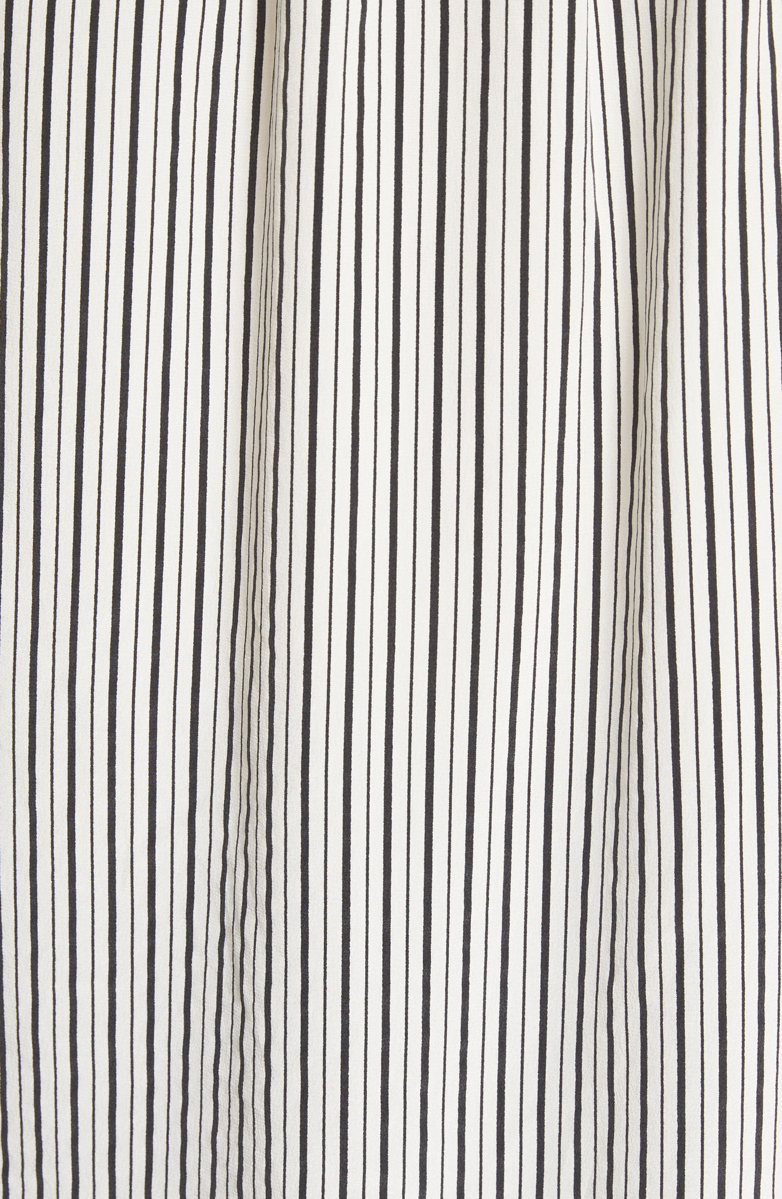 Dinora Off the Shoulder Stripe Silk Top,                             Alternate thumbnail 5, color,                             Porcelain/ Caviar