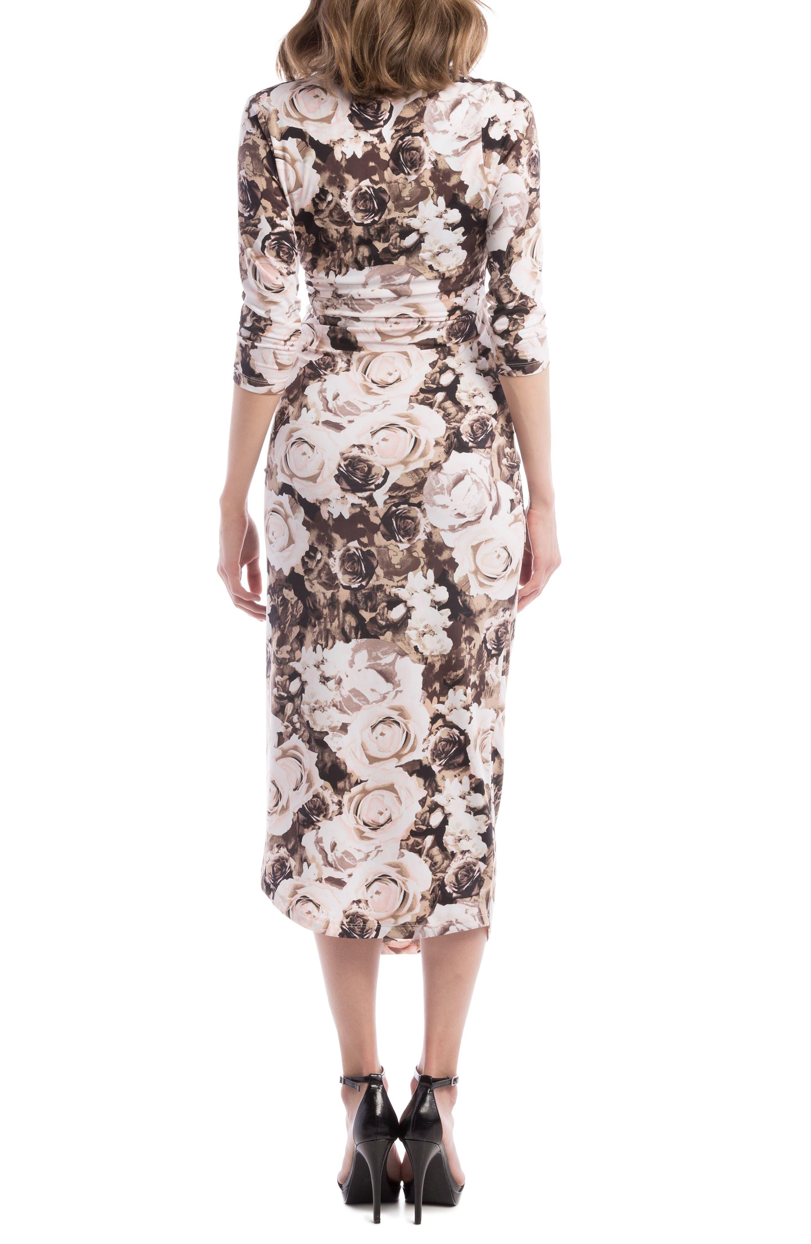 Alternate Image 2  - Lilac Clothing Carly Faux Wrap Maternity/Nursing Dress