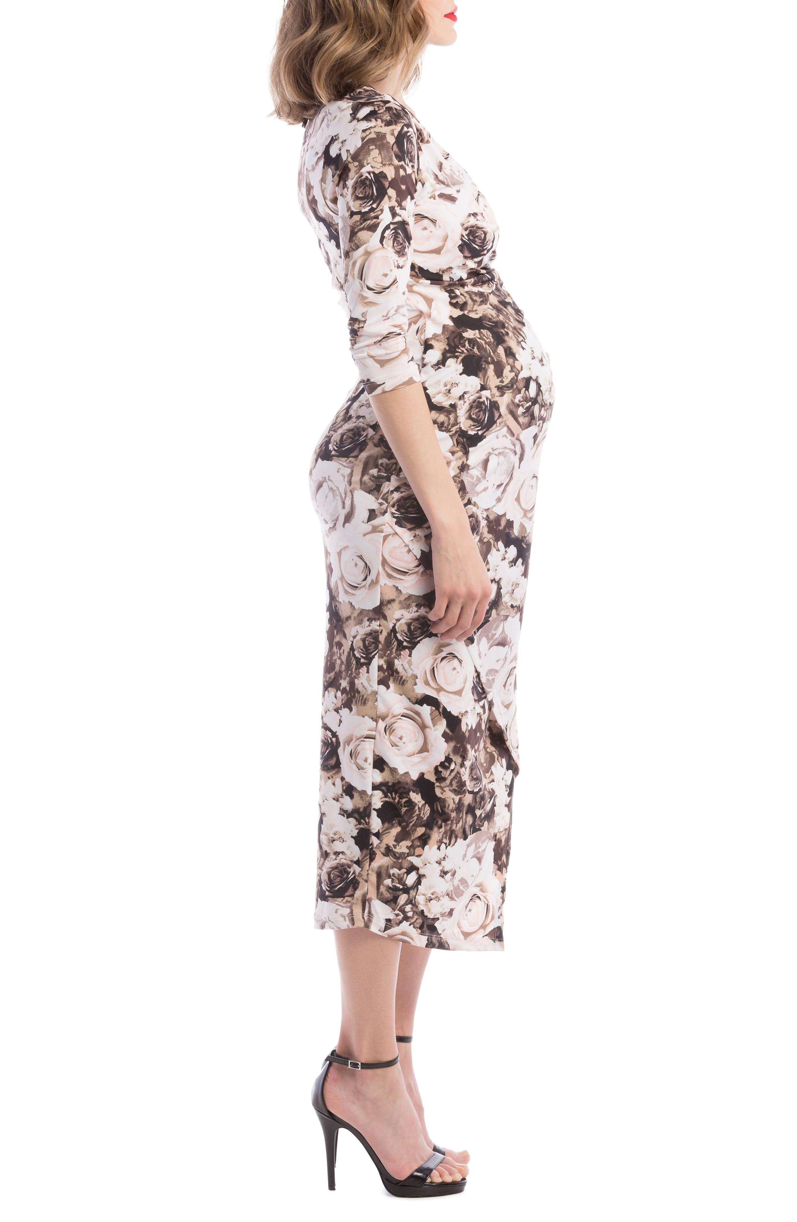 Alternate Image 3  - Lilac Clothing Carly Faux Wrap Maternity/Nursing Dress