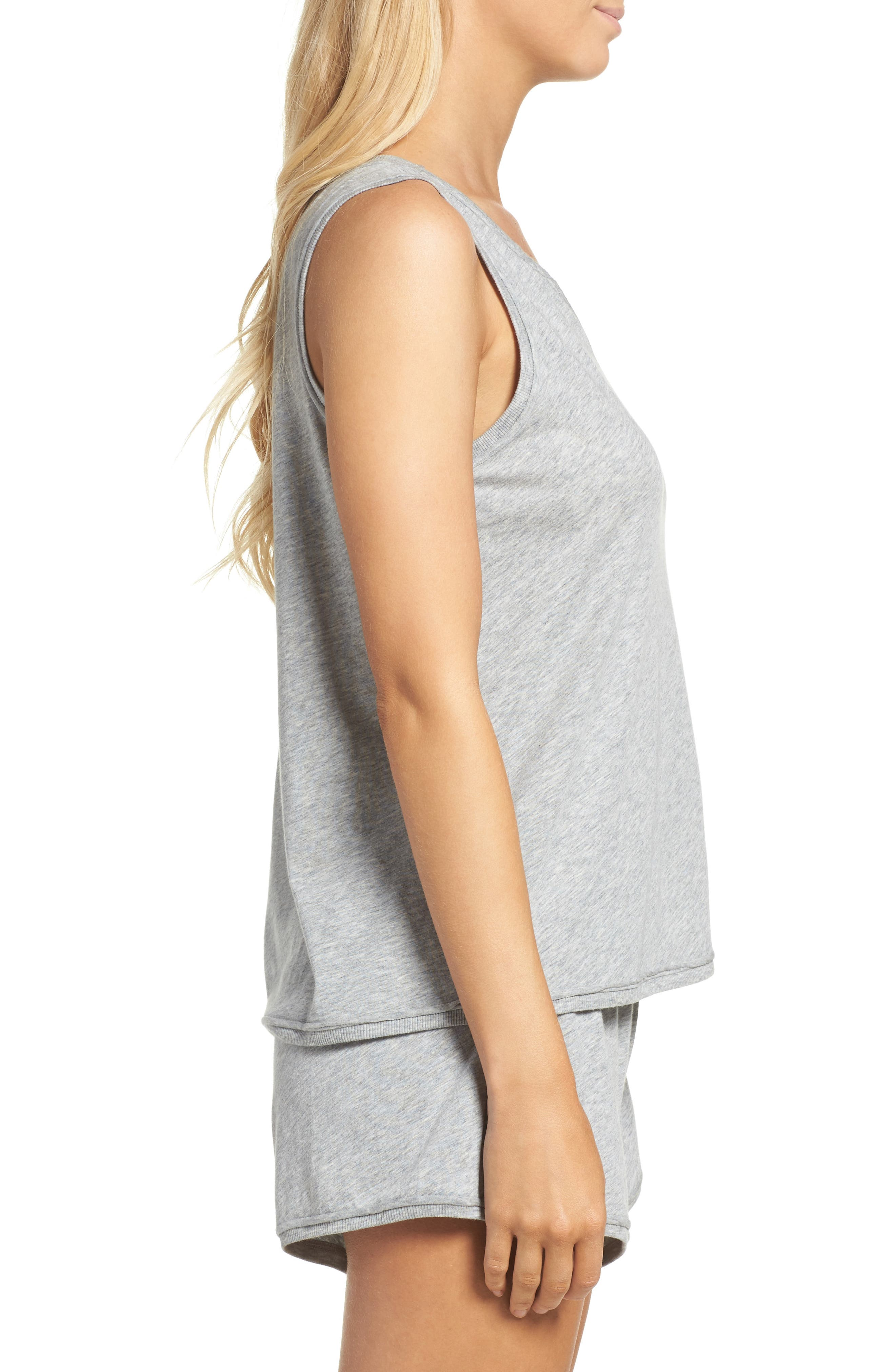 Lounge Tank,                             Alternate thumbnail 3, color,                             Heather Grey