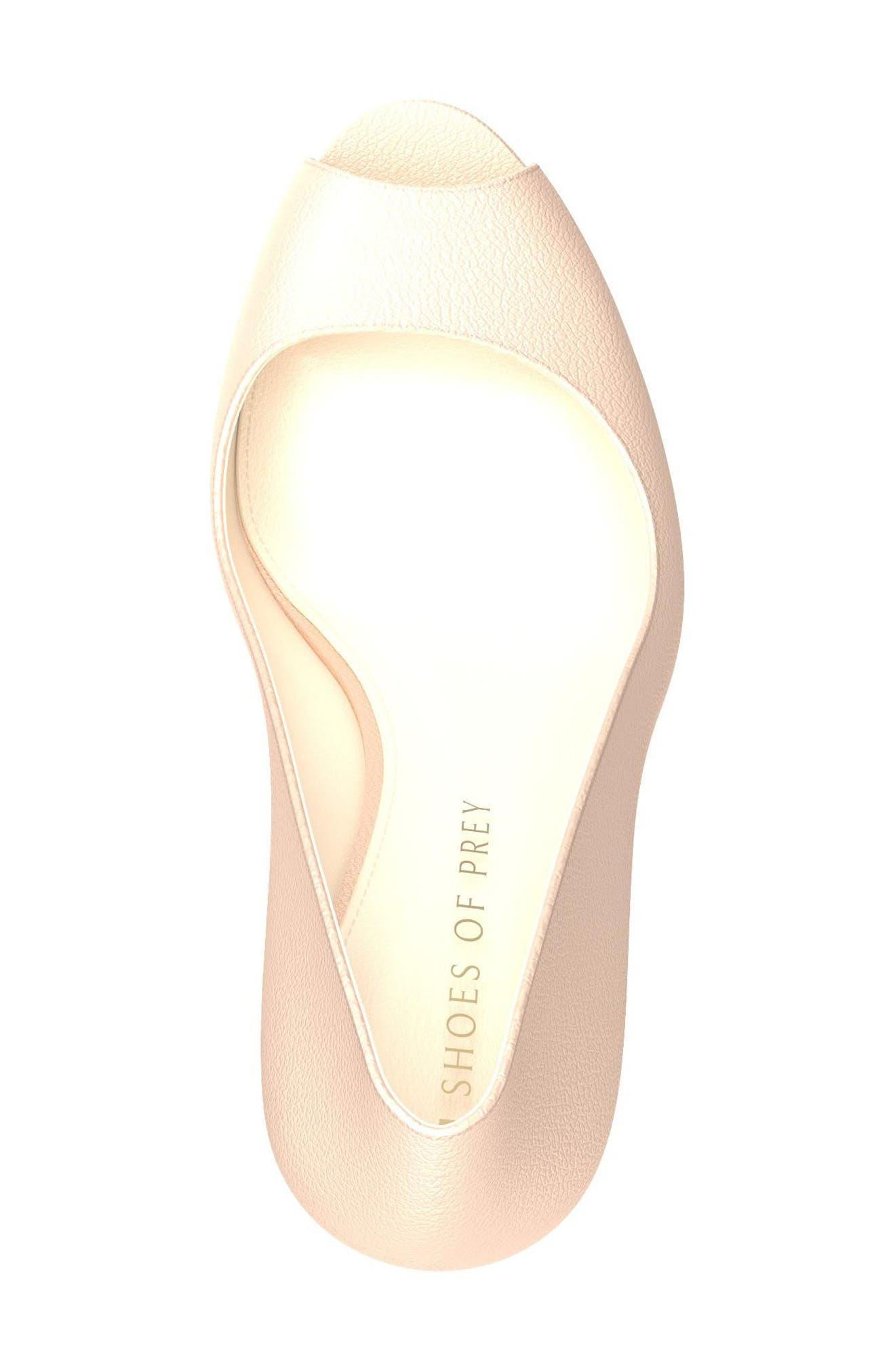 Alternate Image 5  - Shoes of Prey Peep Toe Pump (Women)