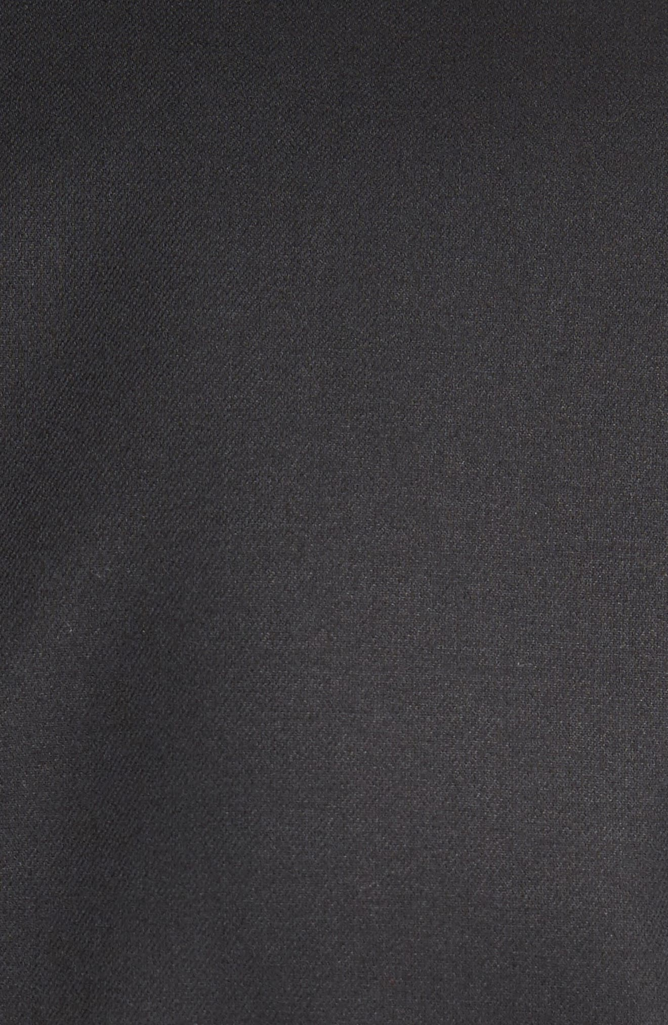 Cotton Gabardine Wrap Blazer,                             Alternate thumbnail 3, color,                             Black