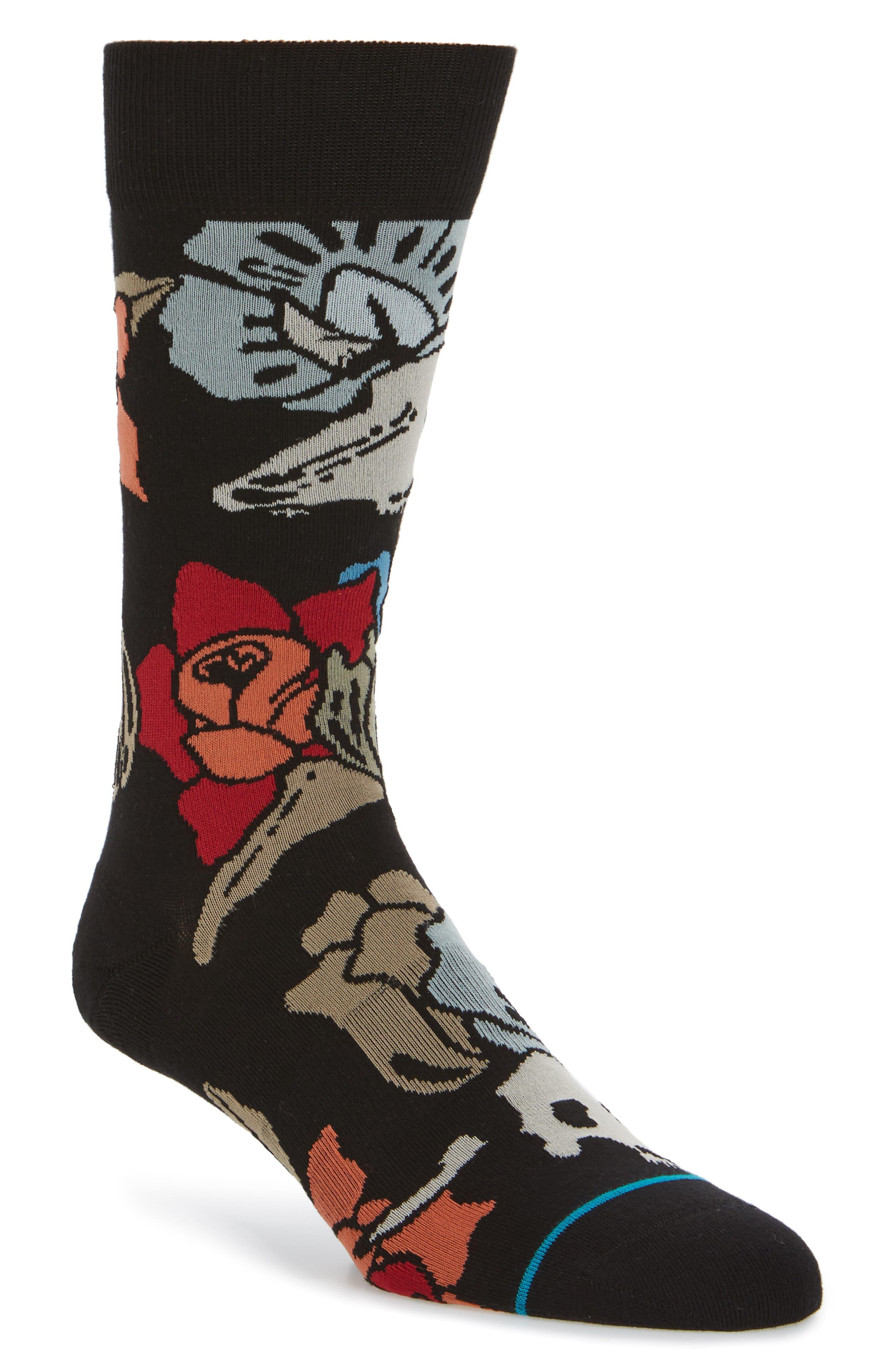 Yumas Crew Socks,                             Main thumbnail 1, color,                             Black