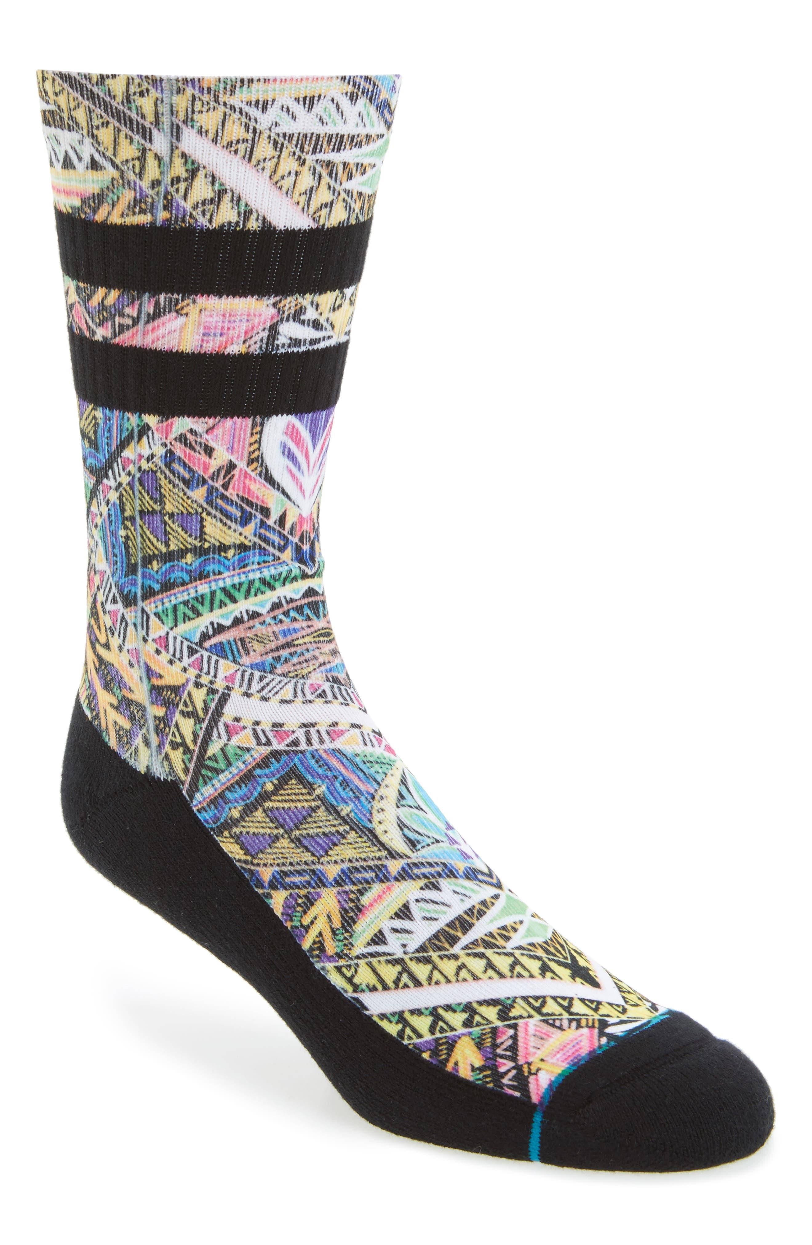 Xalapa Crew Socks,                             Main thumbnail 1, color,                             Black