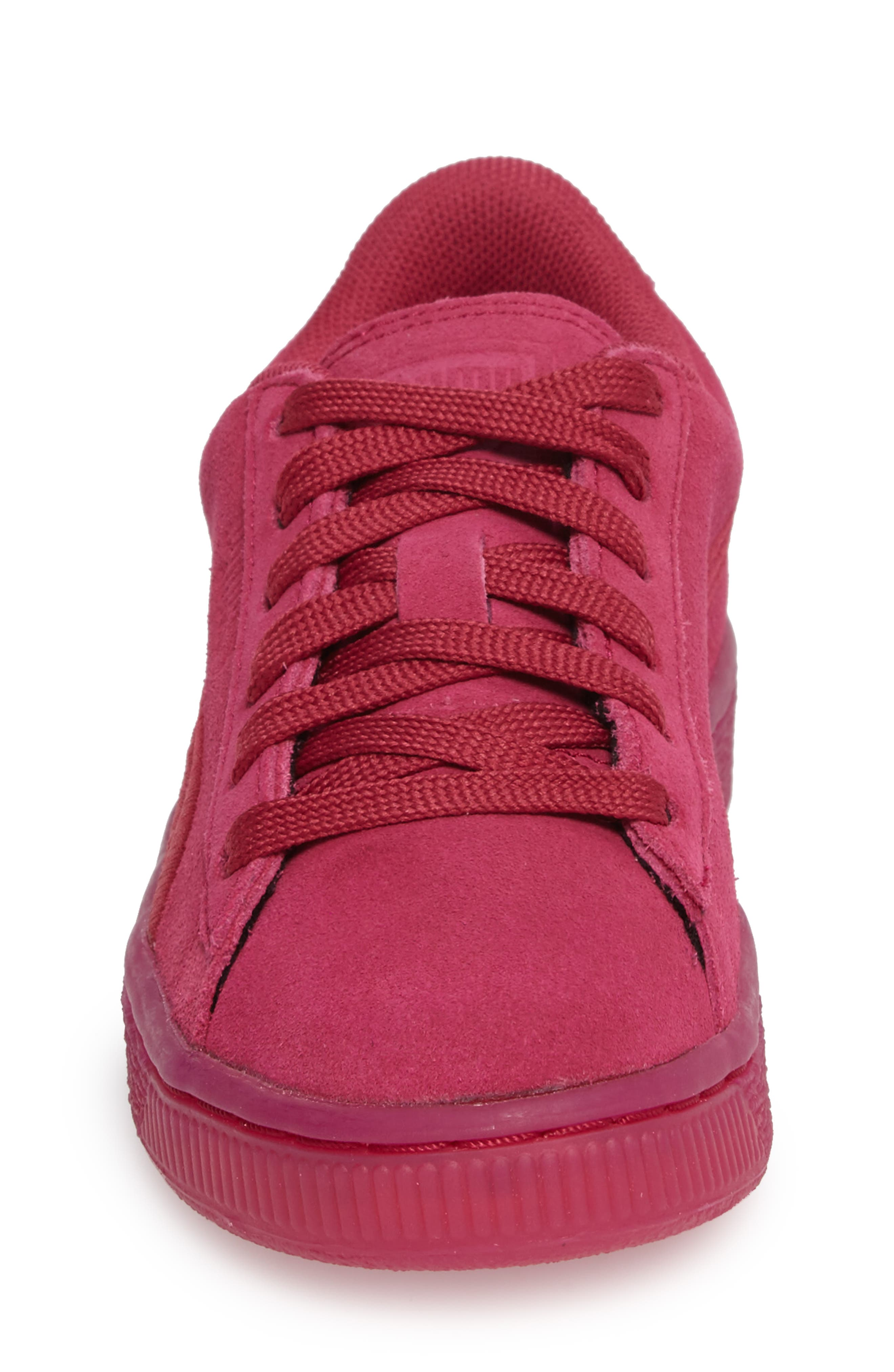 Classic Badge Sneaker,                             Alternate thumbnail 4, color,                             Red