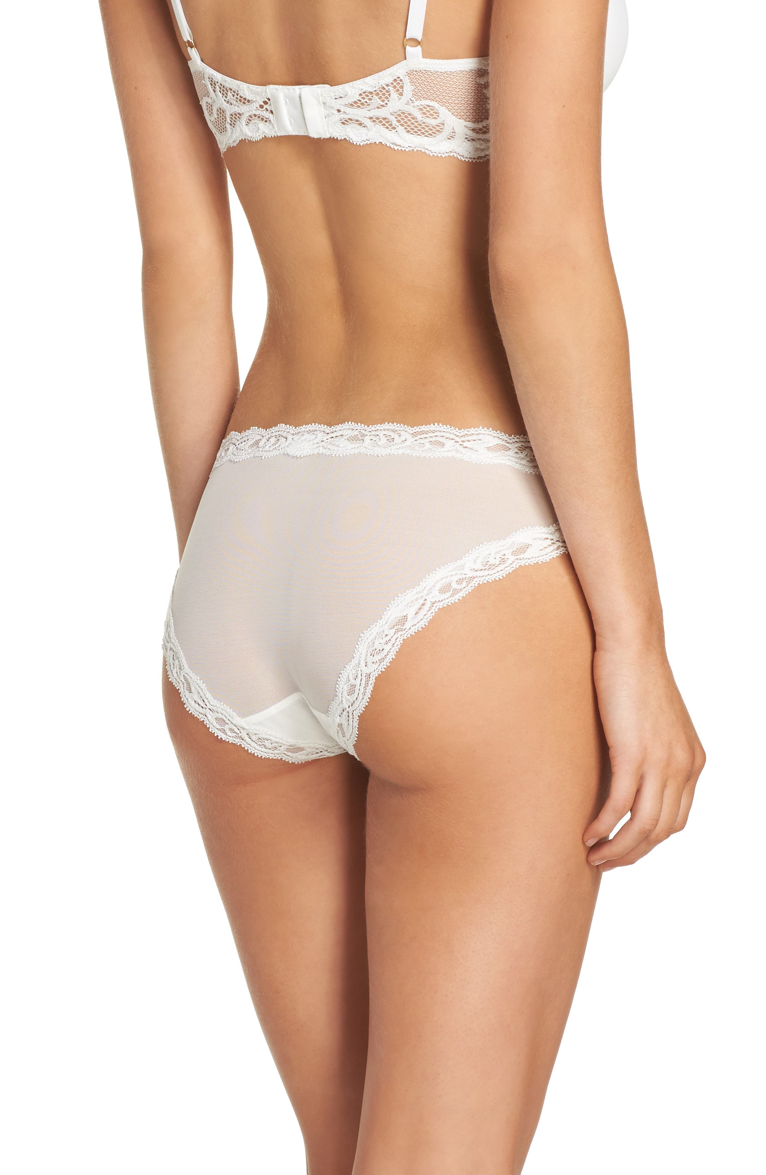 Feathers Hipster Briefs,                             Alternate thumbnail 2, color,                             Warm White