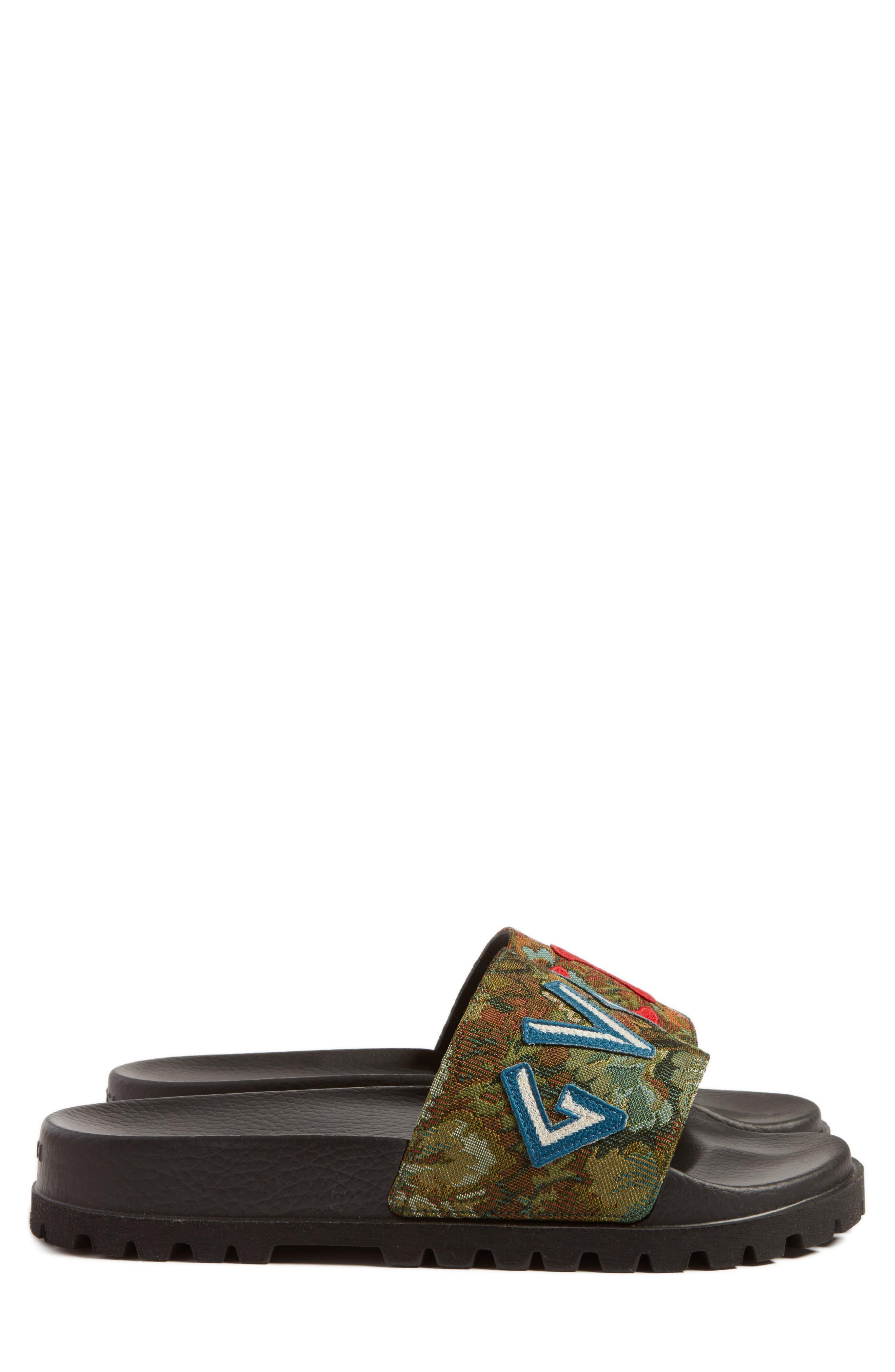 'Pursuit Treck' Slide Sandal,                             Alternate thumbnail 3, color,                             Green Multi