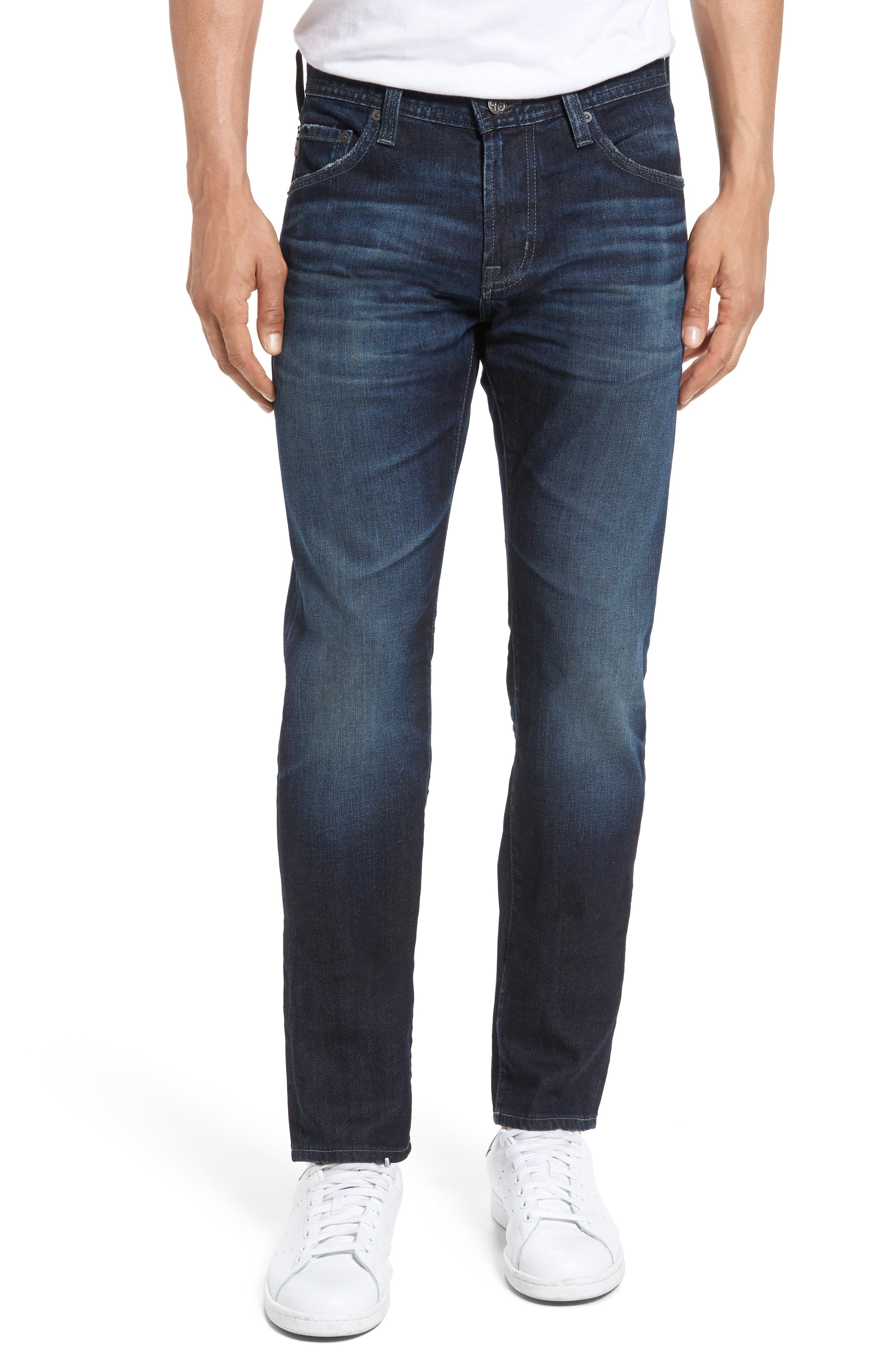 Main Image - AG Tellis Slim Fit Jeans (4 Years Gone)