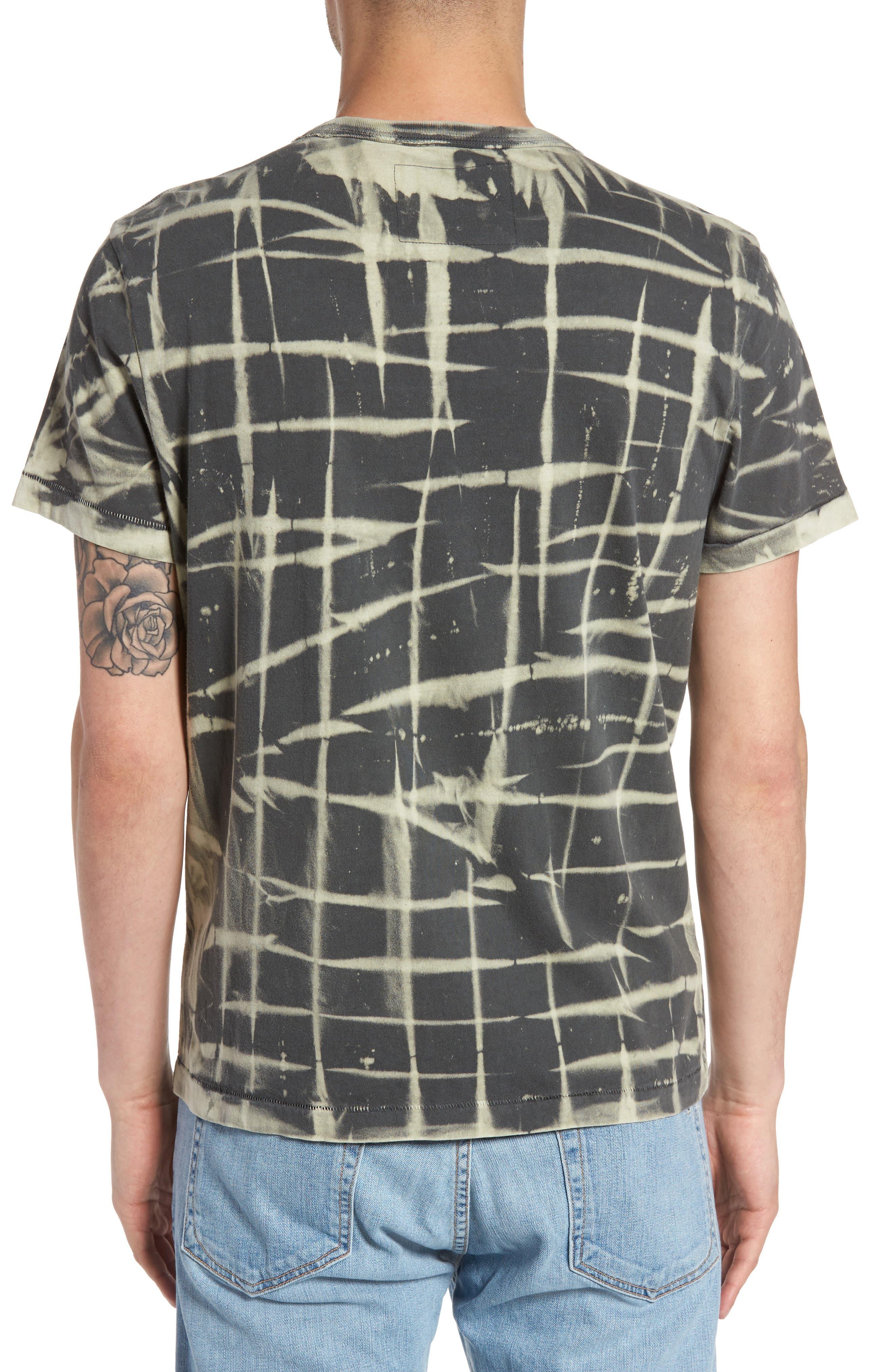 Tie Dye T-Shirt,                             Alternate thumbnail 2, color,                             Charcoal
